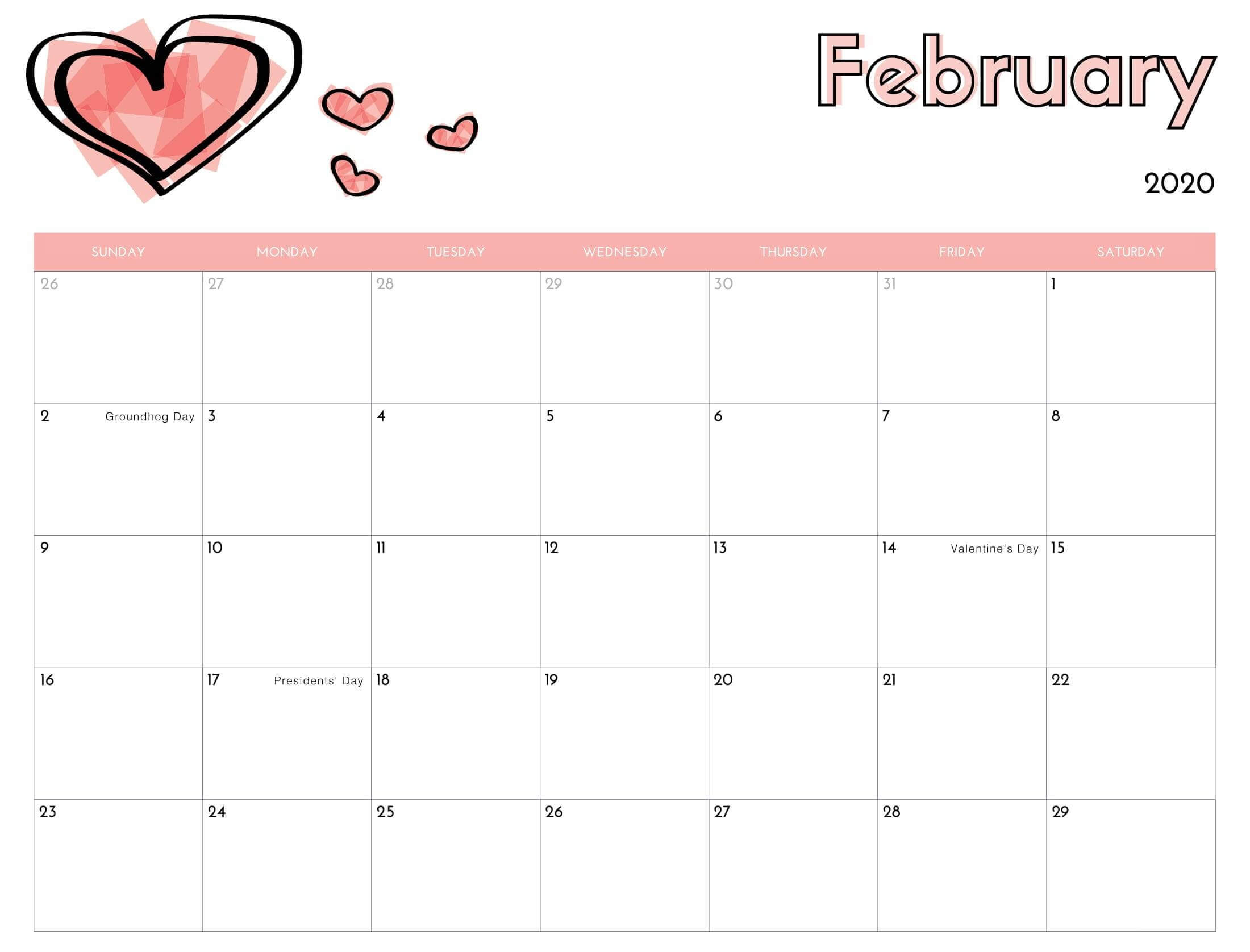 Calendar 2020 Excel  February 2020 Calendar Excel | Monthly within Calendar 2020 Excel Hong Kong