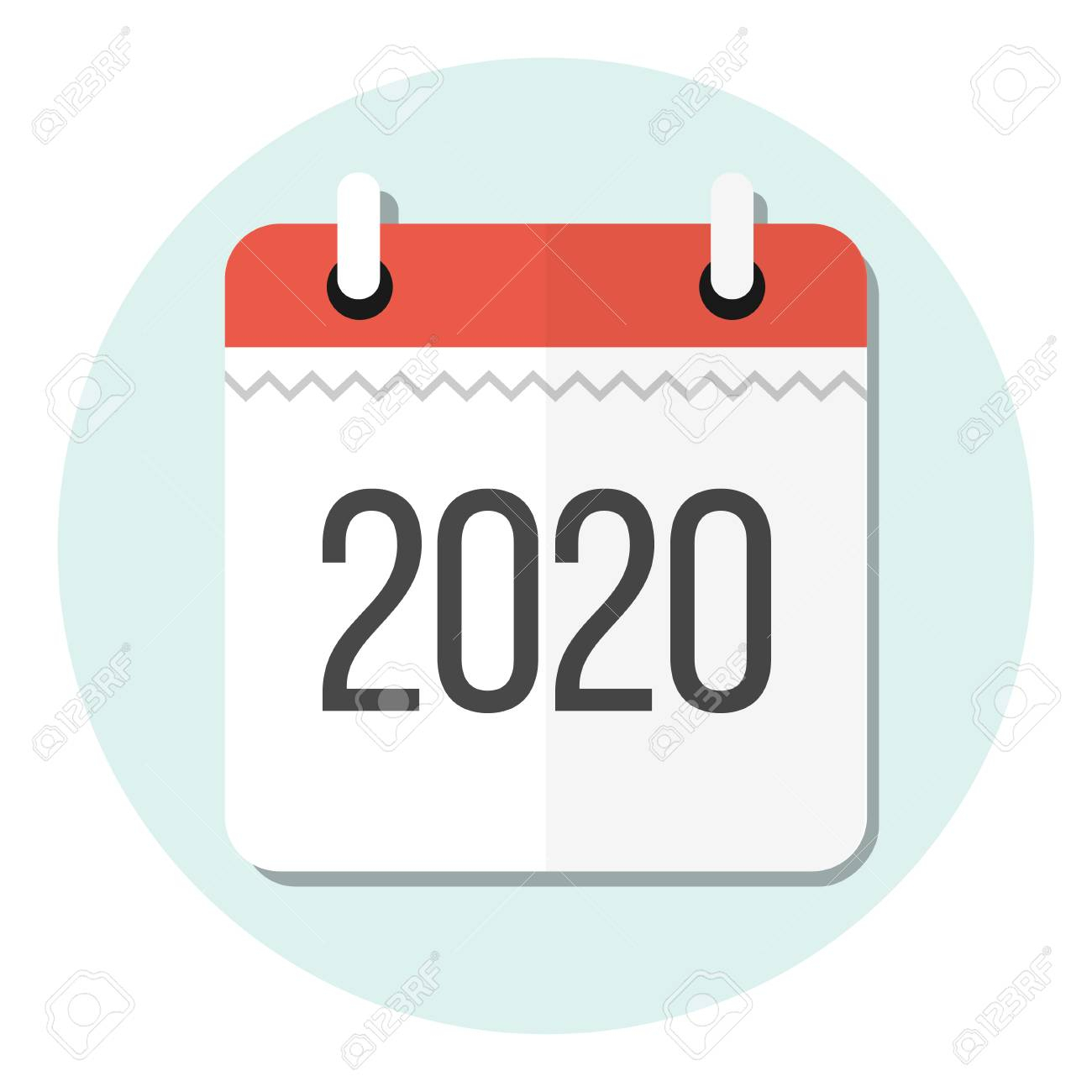 Calendar 2020 Flat Design Icon with regard to Calendar Icon Jpg