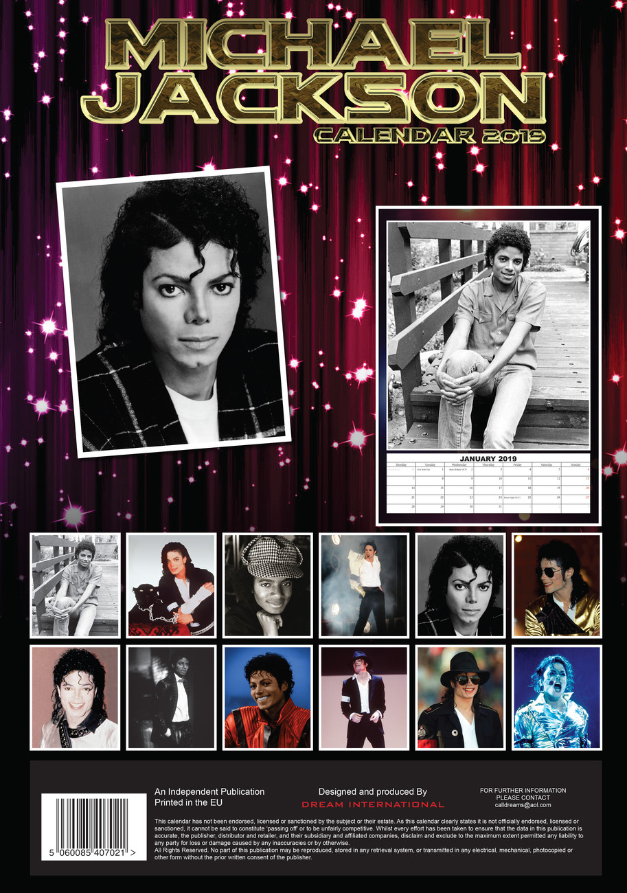 Calendar 2020 Michael Jackson regarding Calendario 2020 Michel