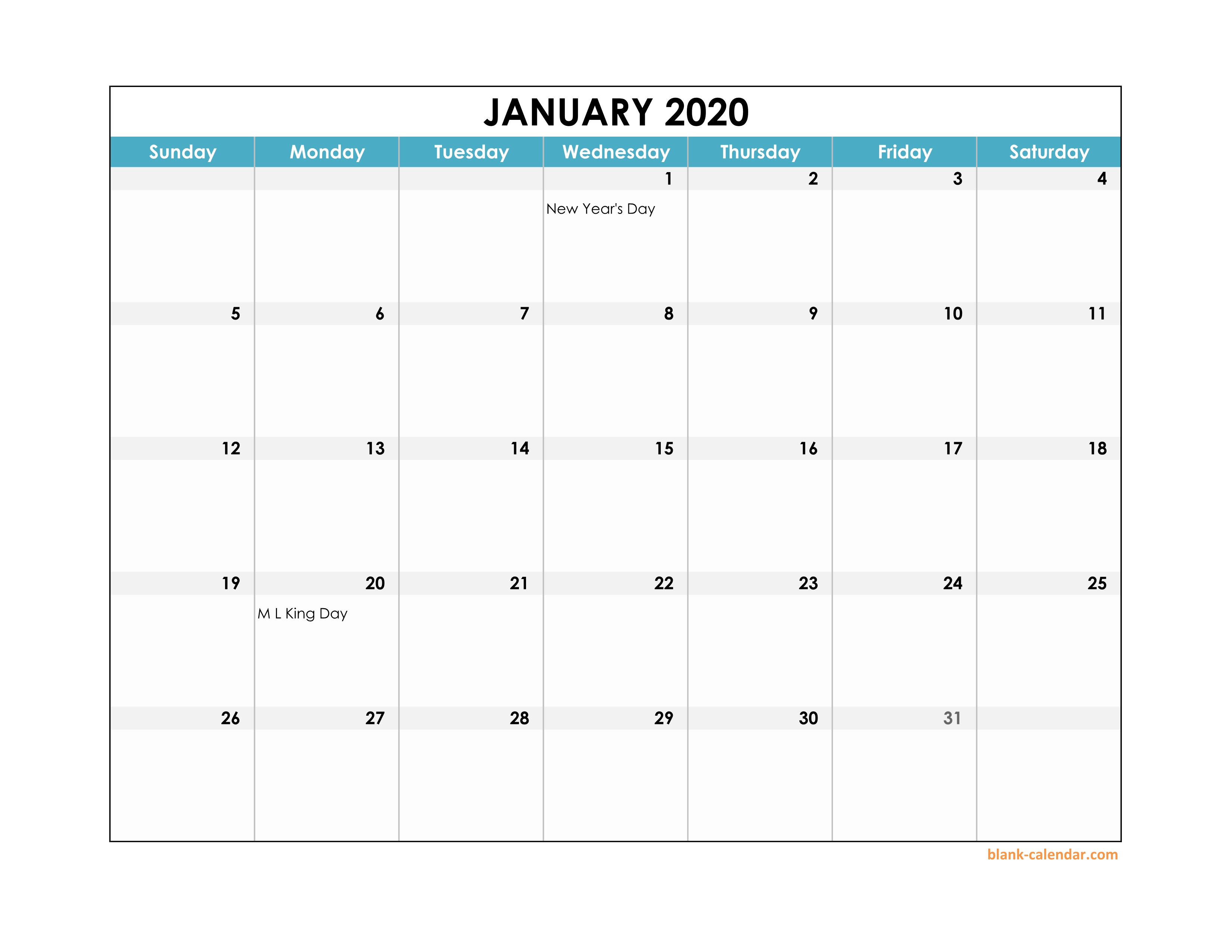 Calendar 2020 With Holidays Excel  Bolan.horizonconsulting.co with regard to Wincalendar January 2020