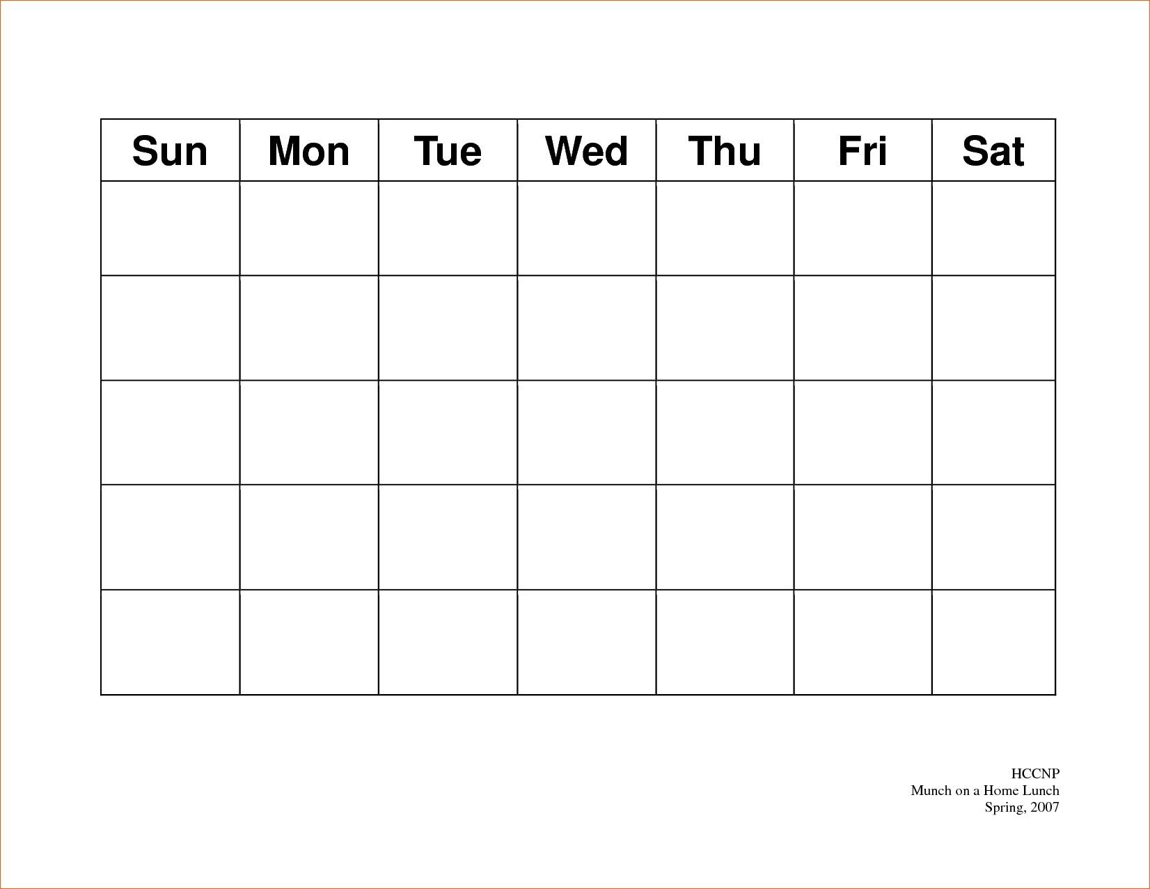 Calendar 5 Day Weekly Calendar Template On 5 Week Calendar inside 5 Day Calendar Printable