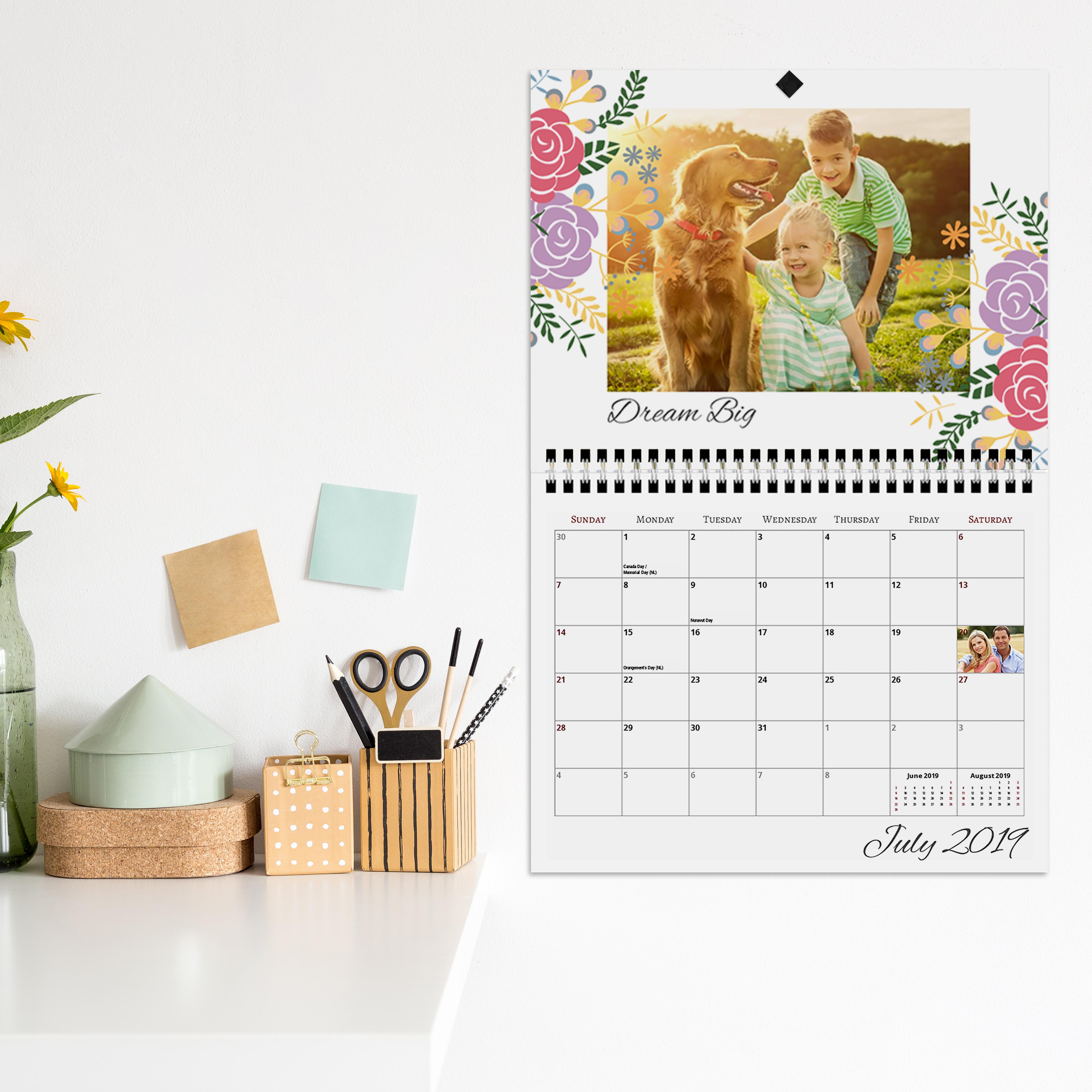 Calendar  8.5X11 Center Spiral pertaining to Shoppers Drug Mart Calendar Maker