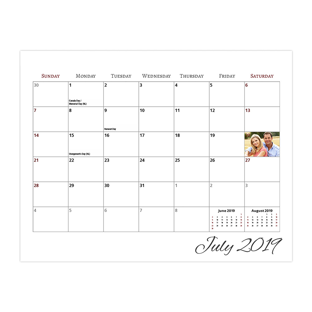 Calendar  8.5X11 Center Spiral within Shoppers Drug Mart Calendar Maker