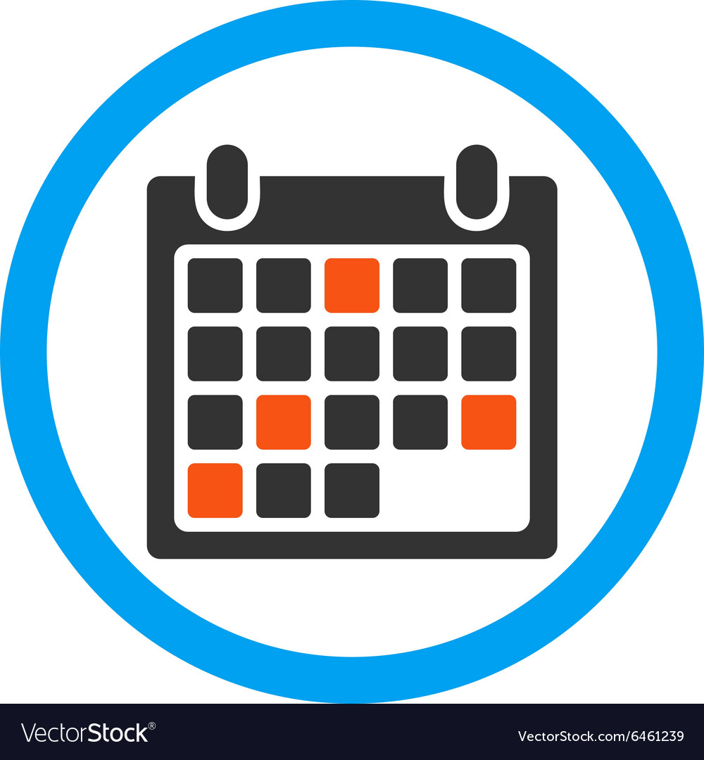 Calendar Appointment Rounded Icon in Round Calendar Icon