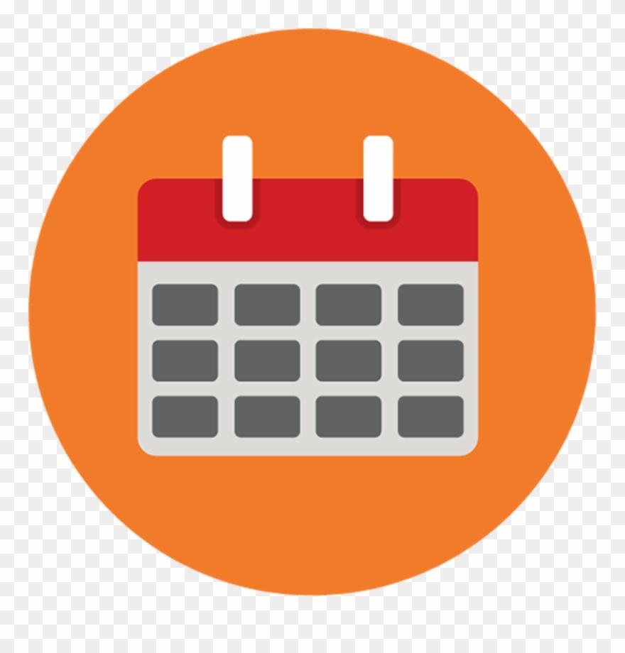 Calendar  Calendar Icon Png Round Clipart (#1597497 within Calendar Icon Round