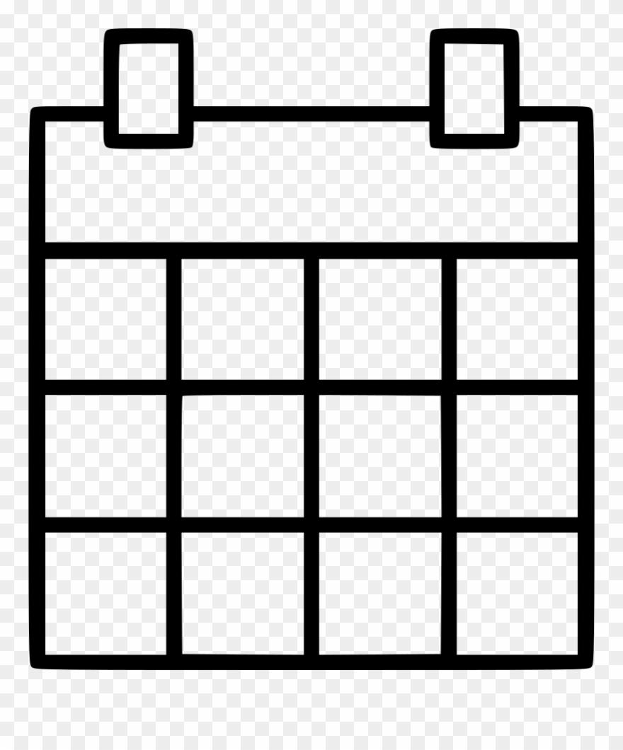 Calendar Calender Date Month Svg Png Icon Ⓒ Clipart inside Blank Calendar Svg
