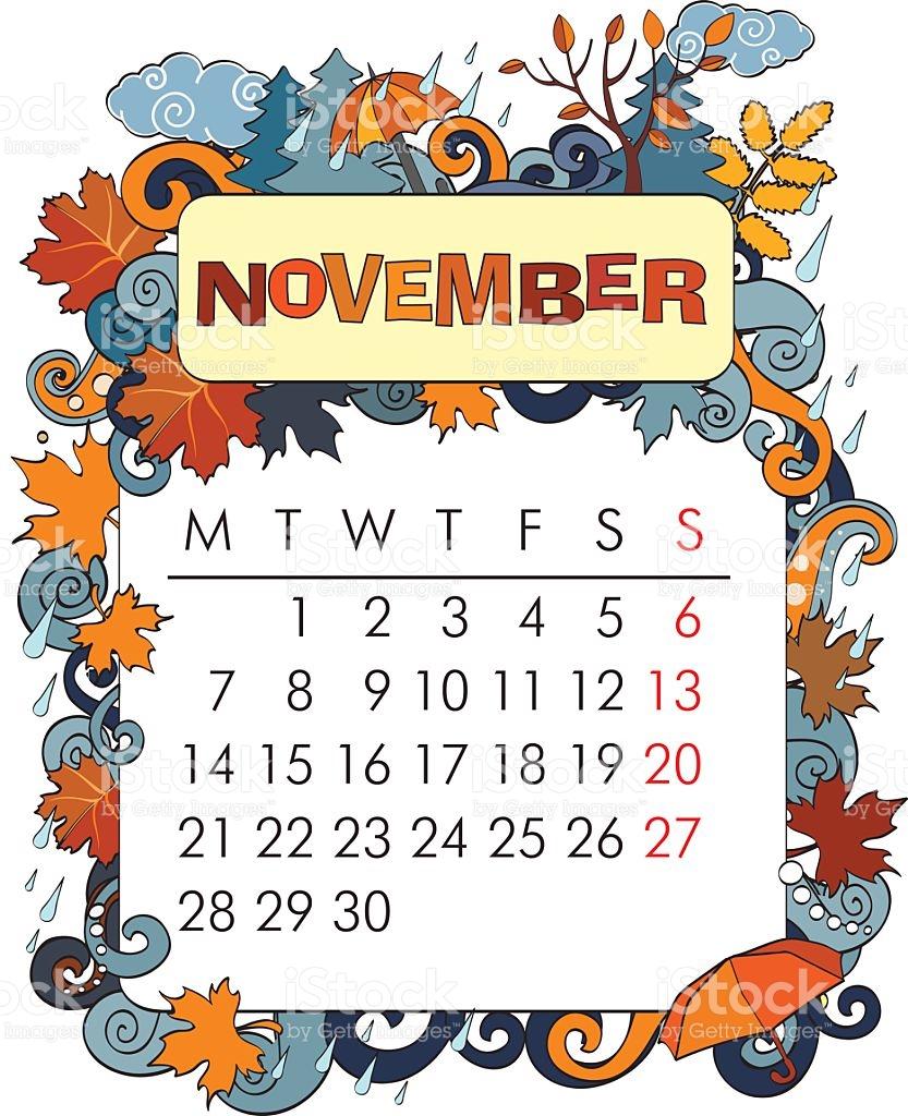 Calendar Clipart Frame, Picture #319823 Calendar Clipart Frame inside November Decorated Calendar