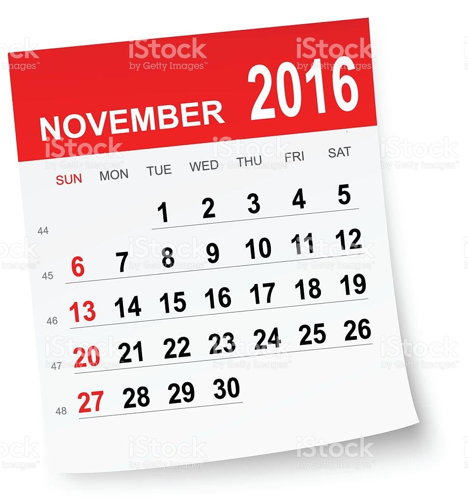 Calendar Clipart November 2016 intended for November Calendar Clipart Free