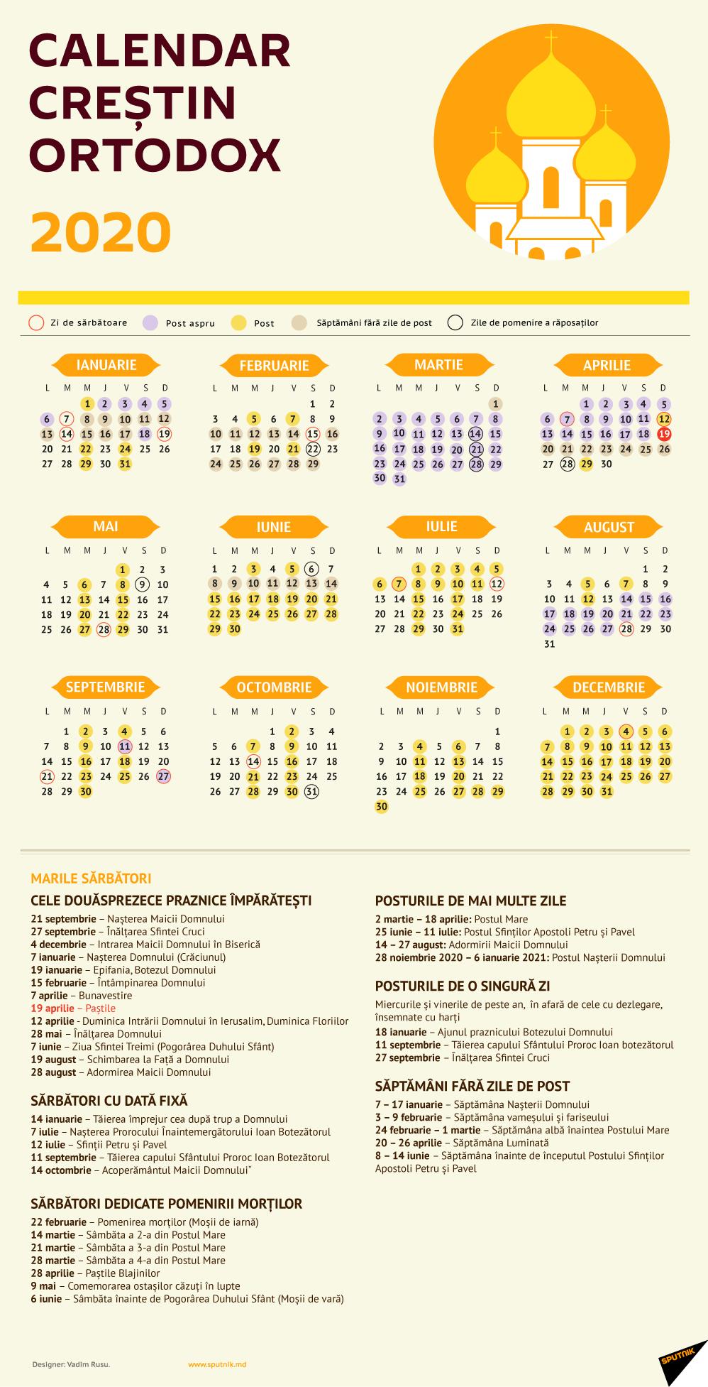 Calendar Creștin Ortodox 2020  Sărbători Religioase pertaining to Calendar Martie 2020