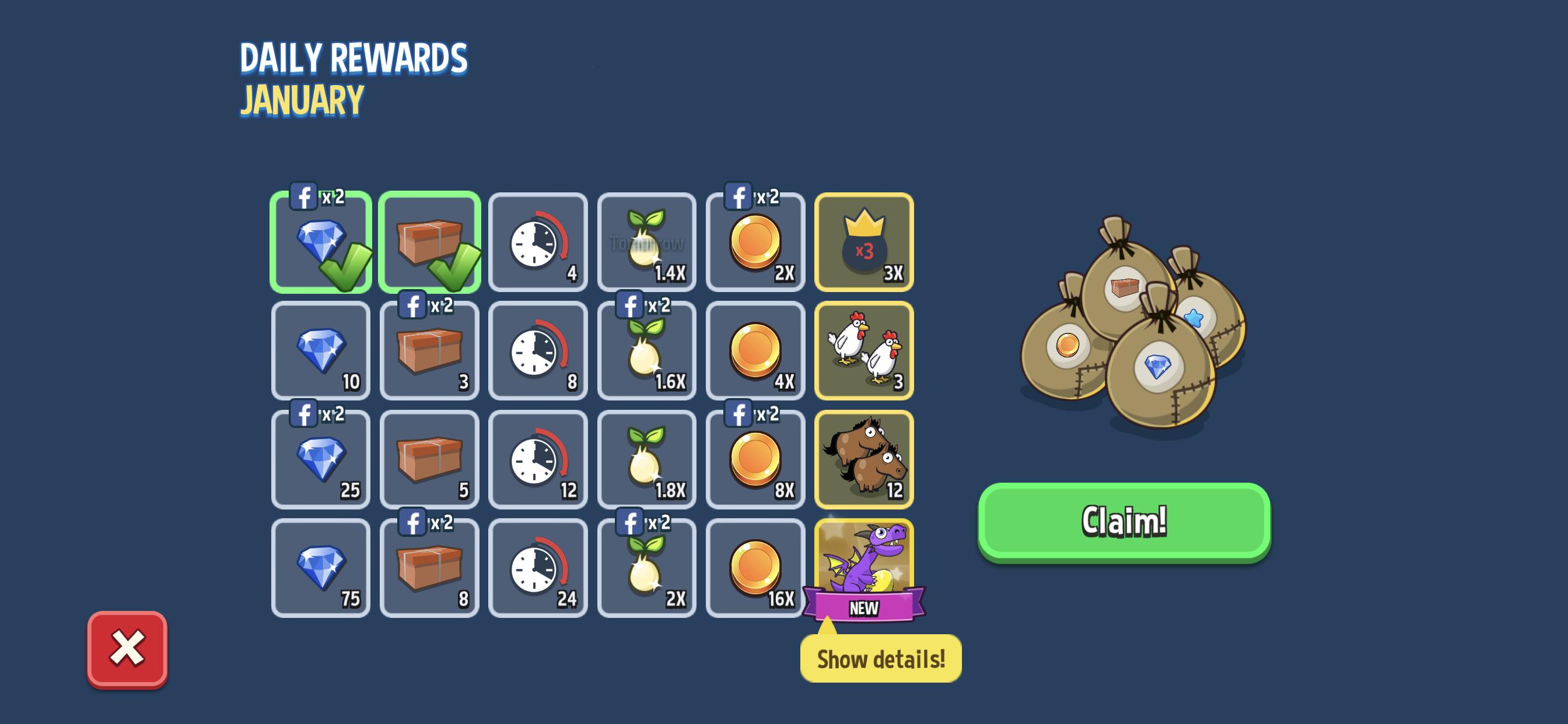 Calendar Daily Rewards – Futureplay Games with Empires And Puzzles Events Calendar