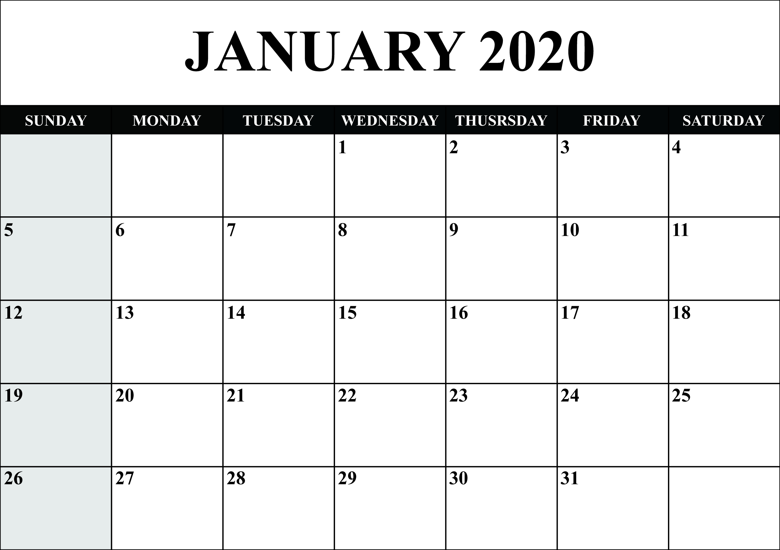 Calendar December 2020 January 2020  Yatay.horizonconsulting.co pertaining to Calendar 2020 January