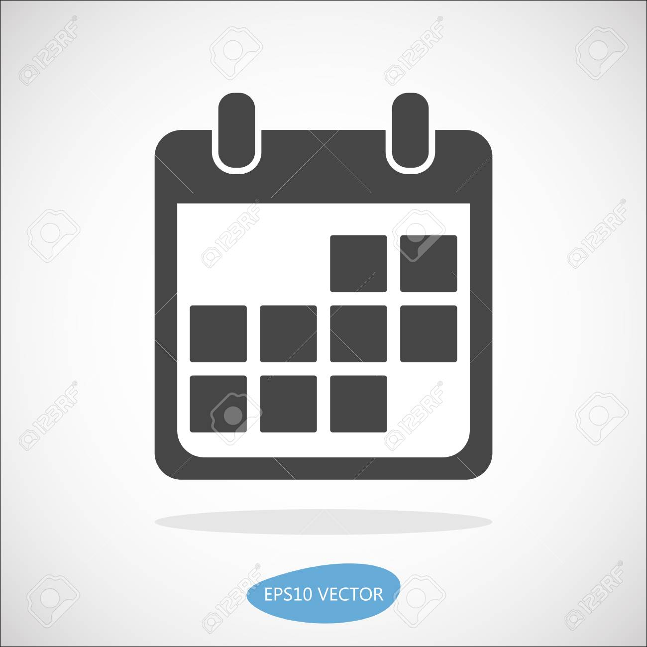 Calendar Event Icon, Vector Illustration. Simplyfied Flat Material.. for Material Design Calendar Icon