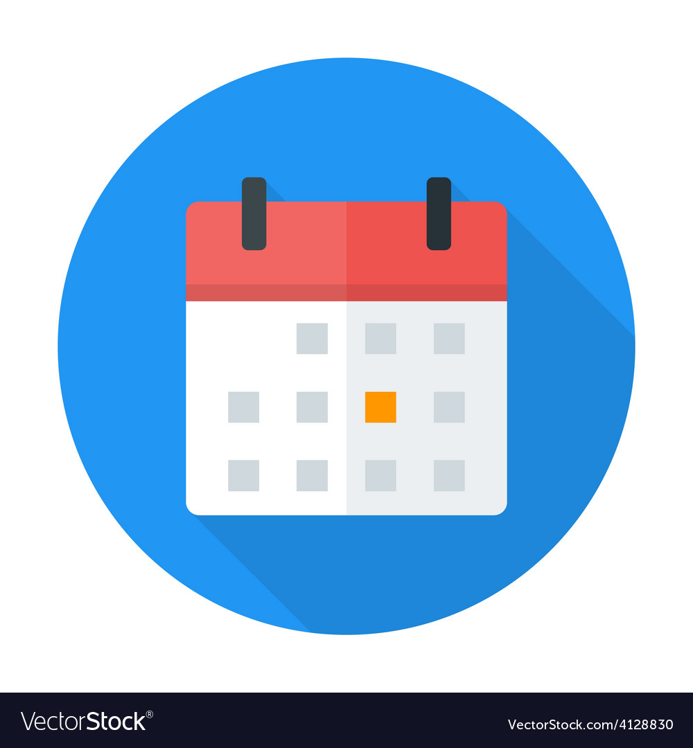 Calendar Flat Circle Icon regarding Round Calendar Icon