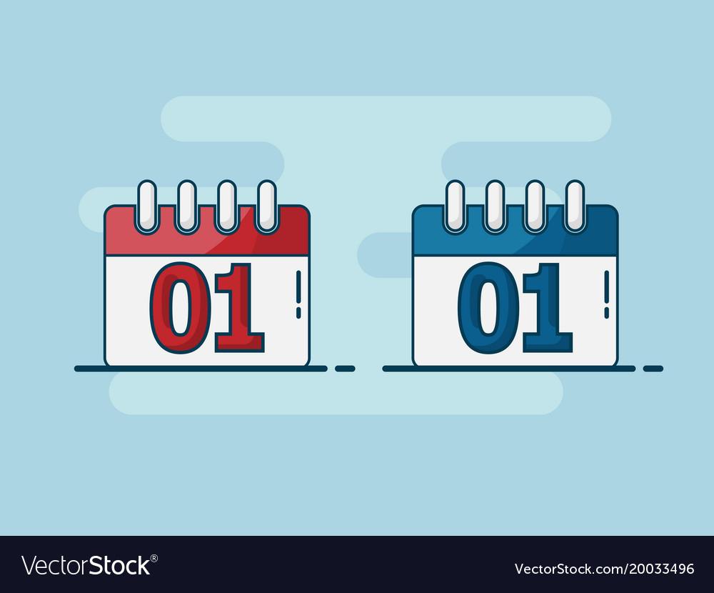 Calendar Flat Design for Calendar Flat Design