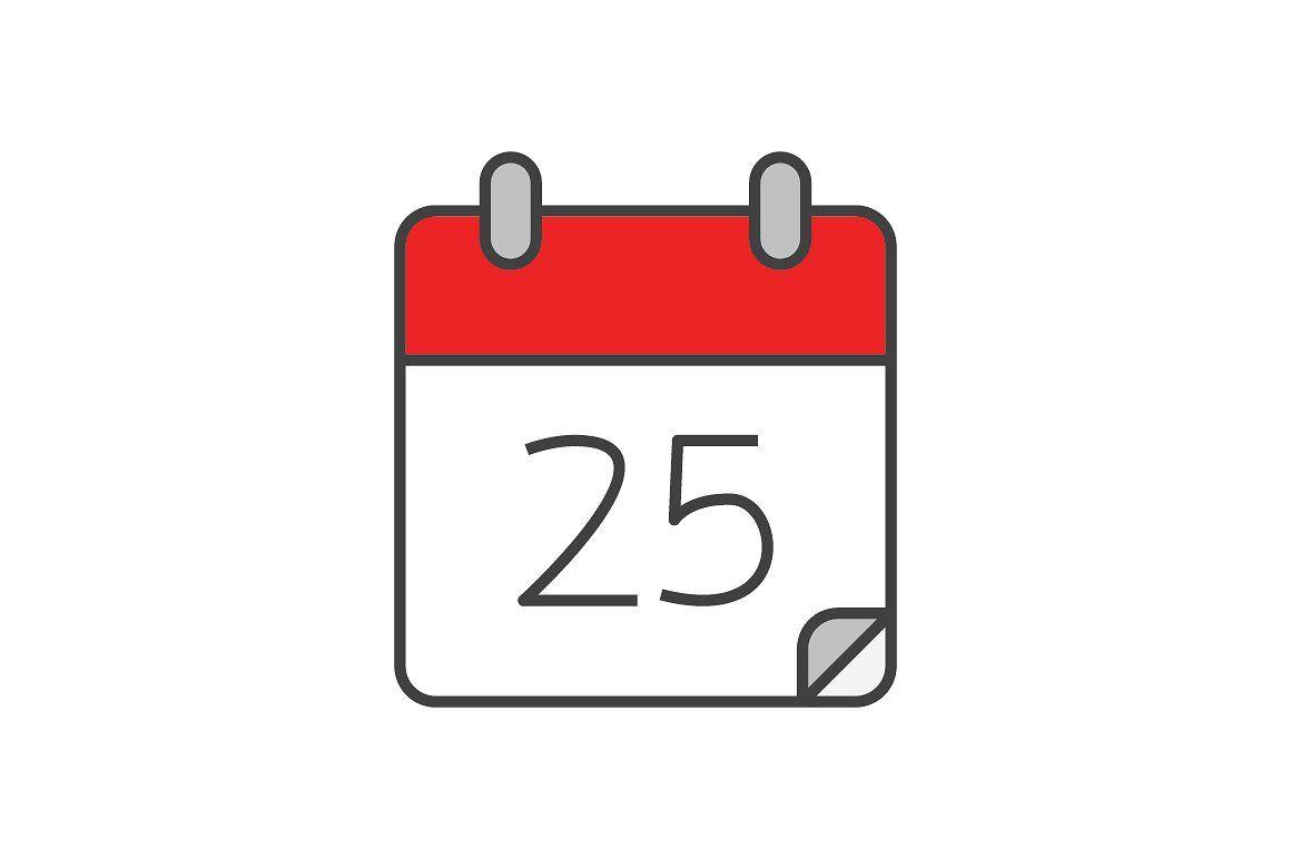 Calendar Flat Line Icon #layered#includes#editable#psd regarding Calendar Icon Disappeared Iphone
