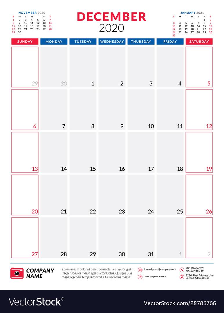 Calendar For December 2020 Planner Stationery within Calander December 2020