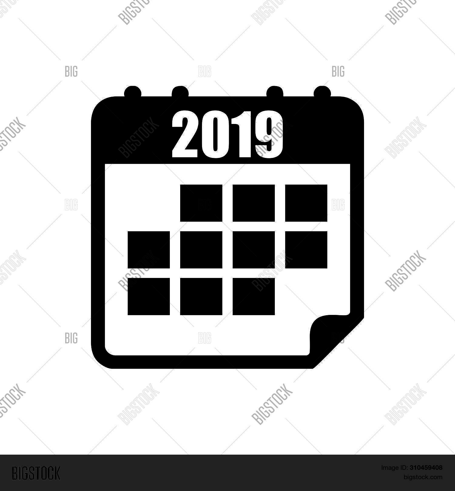 Calendar Icon 2019 Image & Photo (Free Trial) | Bigstock with regard to Calendar Icon Jpg