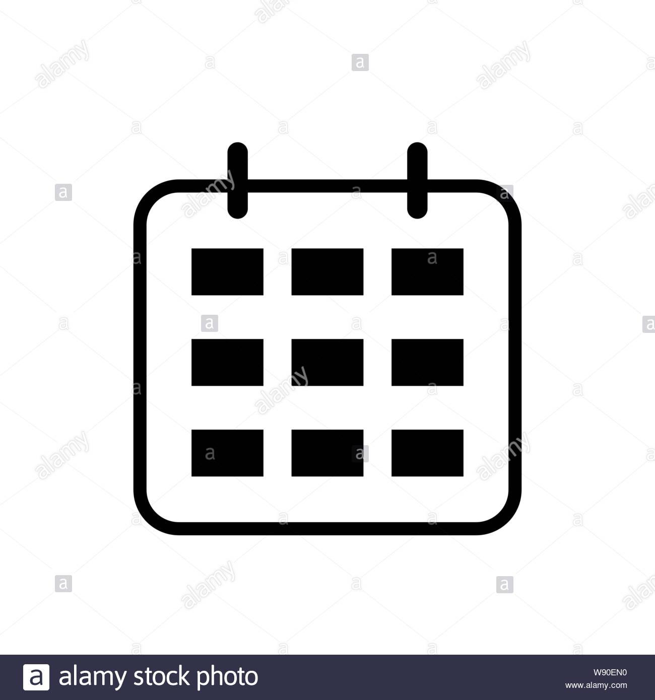 Calendar Icon. Calendar Isolated Flat Web Mobile Icon, Sign within Icon Calendar Vector