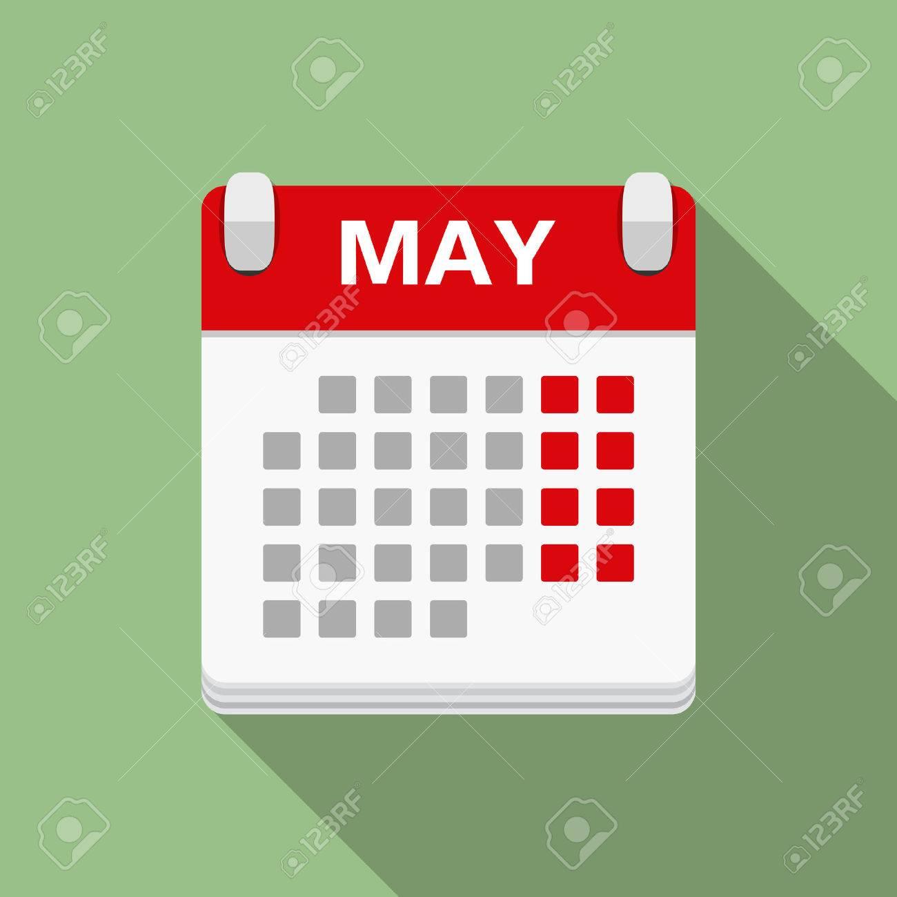 Calendar Icon, Flat Design inside Calendar Flat Design