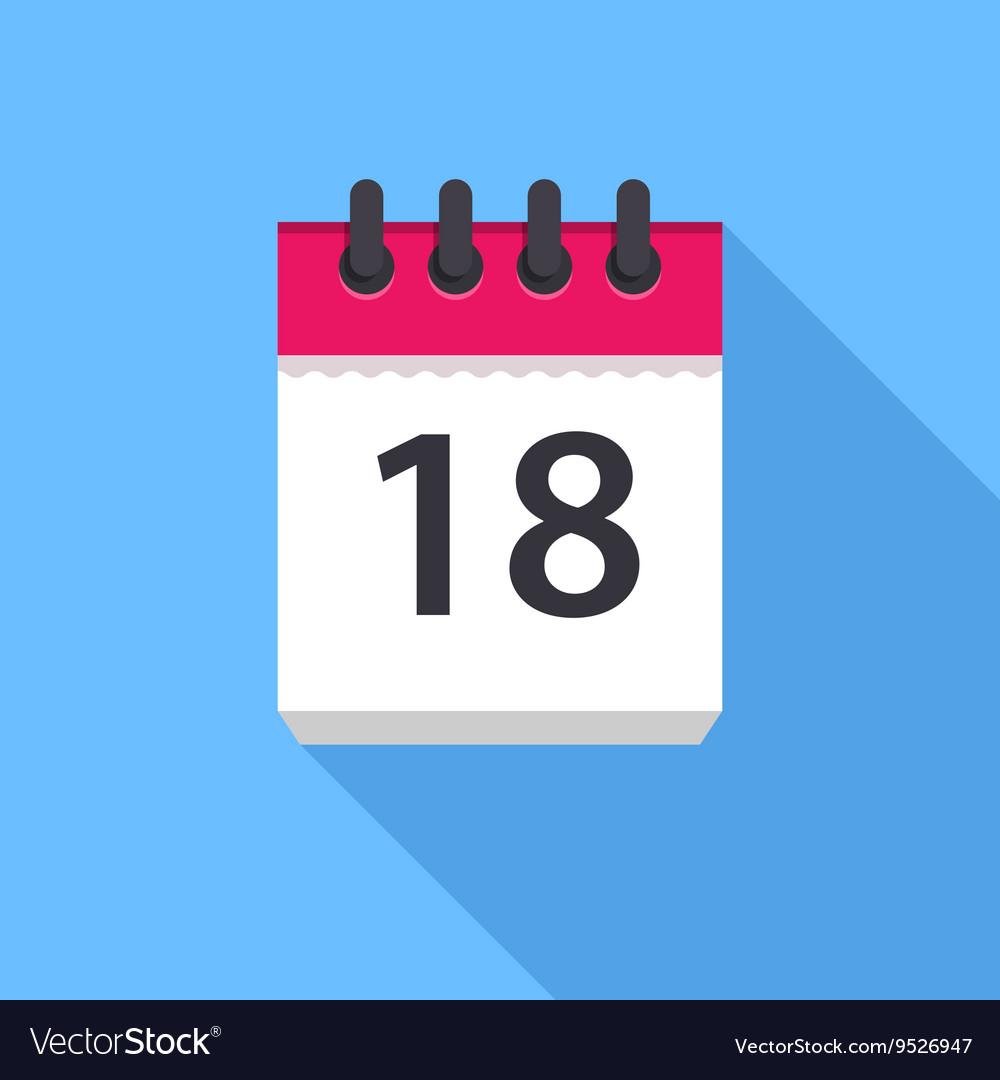Calendar Icon Flat Design inside Calendar Flat Design
