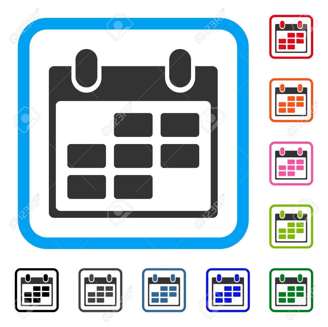 Calendar Icon. Flat Grey Pictogram Symbol Inside A Light Blue.. regarding Calendar Icon Grey