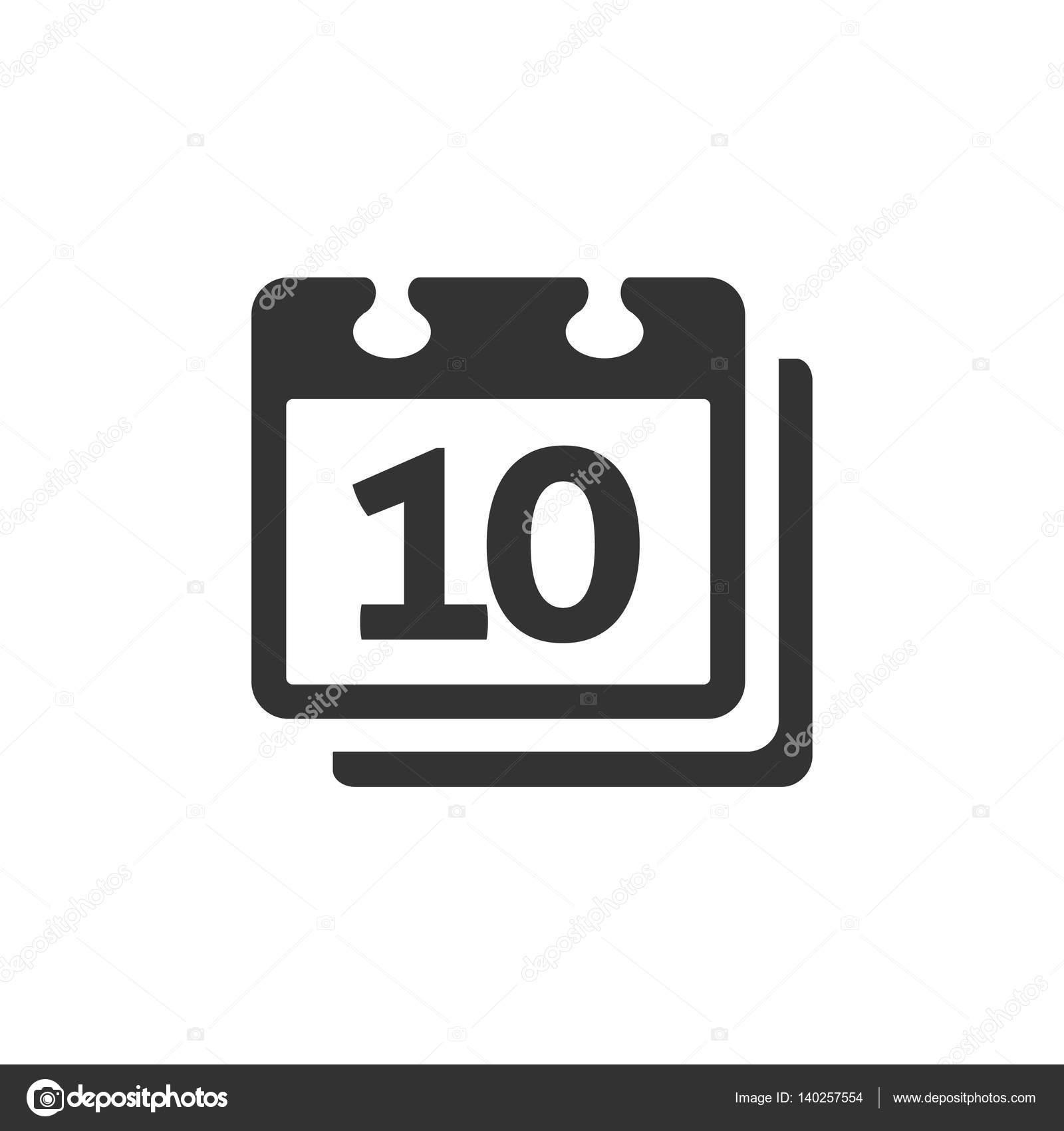 Calendar Icon In Single Grey Color. — Векторное Изображение in Calendar Icon Grey