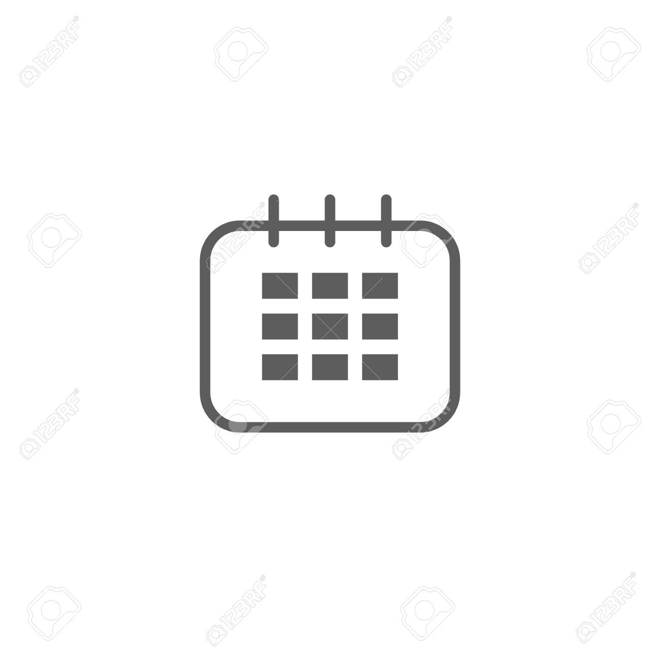 Calendar Icon In Trendy Flat Style Isolated On Grey Background intended for Calendar Icon Grey