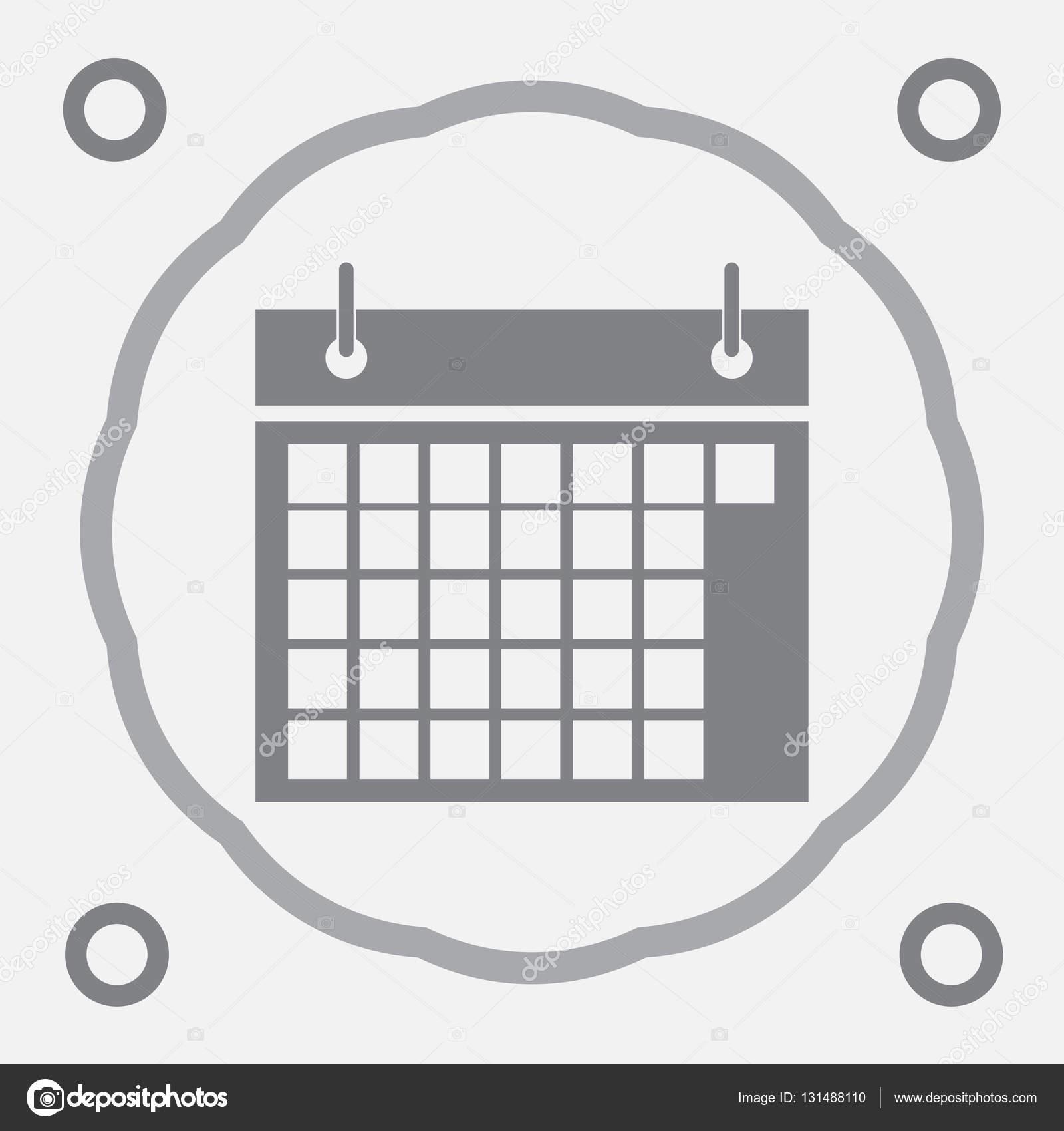 Calendar Icon In Trendy Flat Style Isolated On Grey regarding Calendar Icon Grey