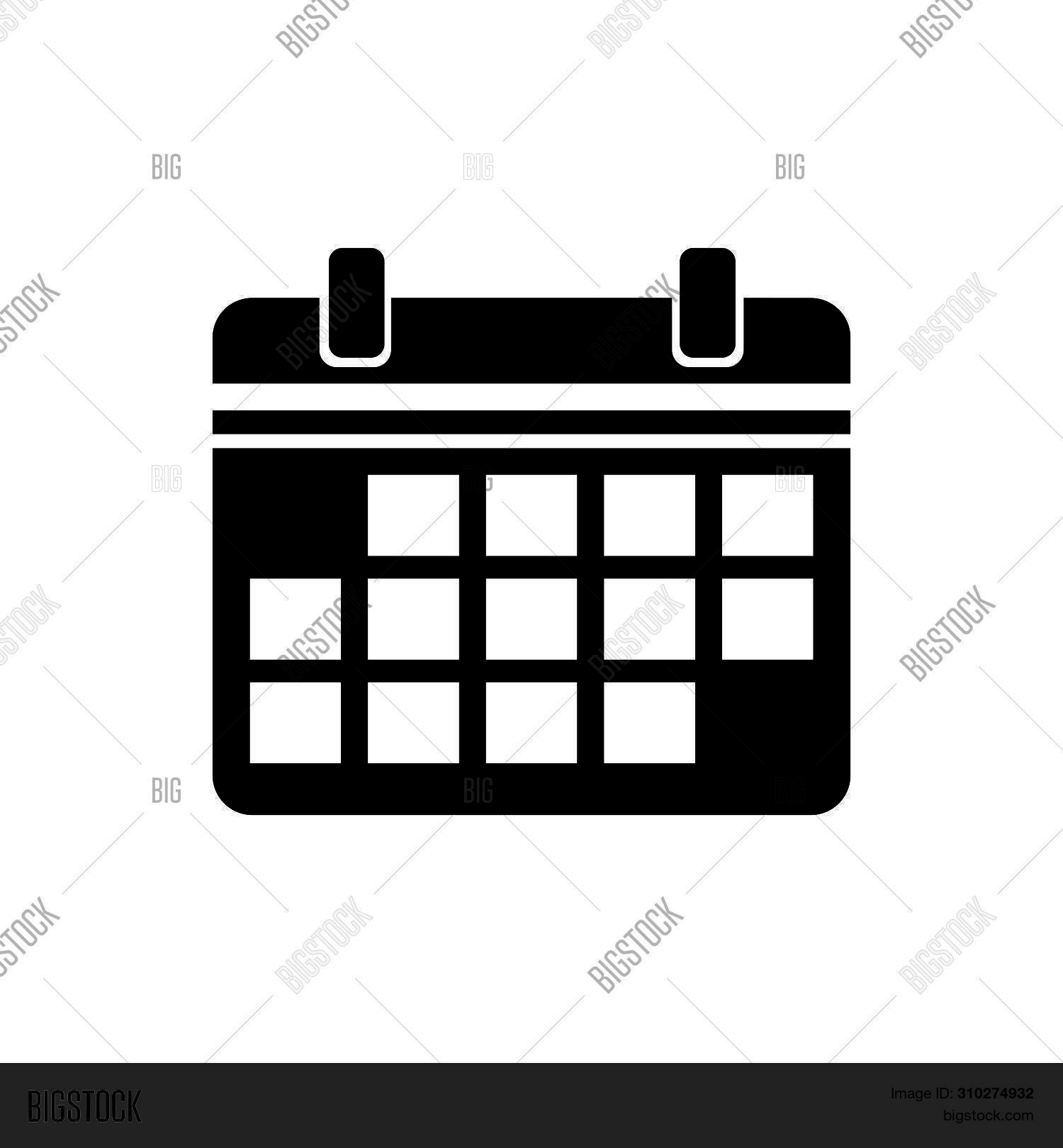 Calendar Icon Isolated Image & Photo (Free Trial) | Bigstock regarding Calendar Icon Jpg