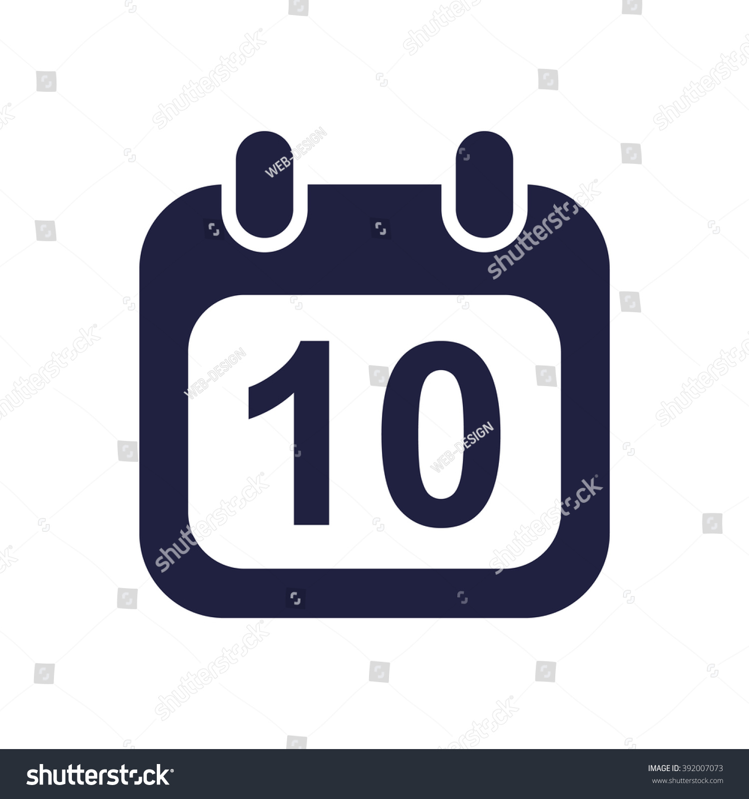 Calendar Icon Jpg Stock Vector (Royalty Free) 392007073 throughout Calendar Icon Jpg