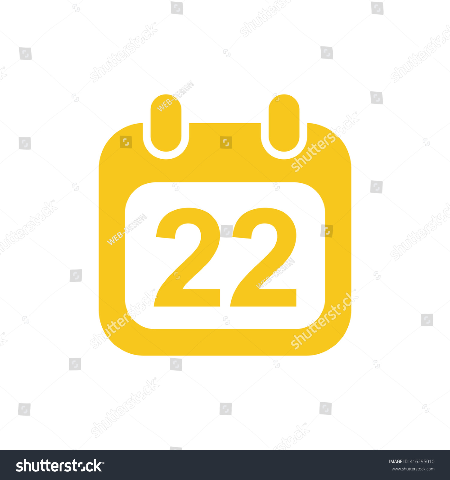 Calendar Icon Jpg Stock Vector (Royalty Free) 416295010 throughout Calendar Icon Jpg
