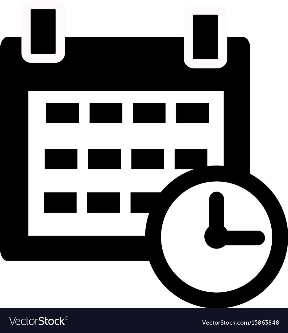 Calendar Icon On White Background Calendar Sign with Icon Calendar Vector