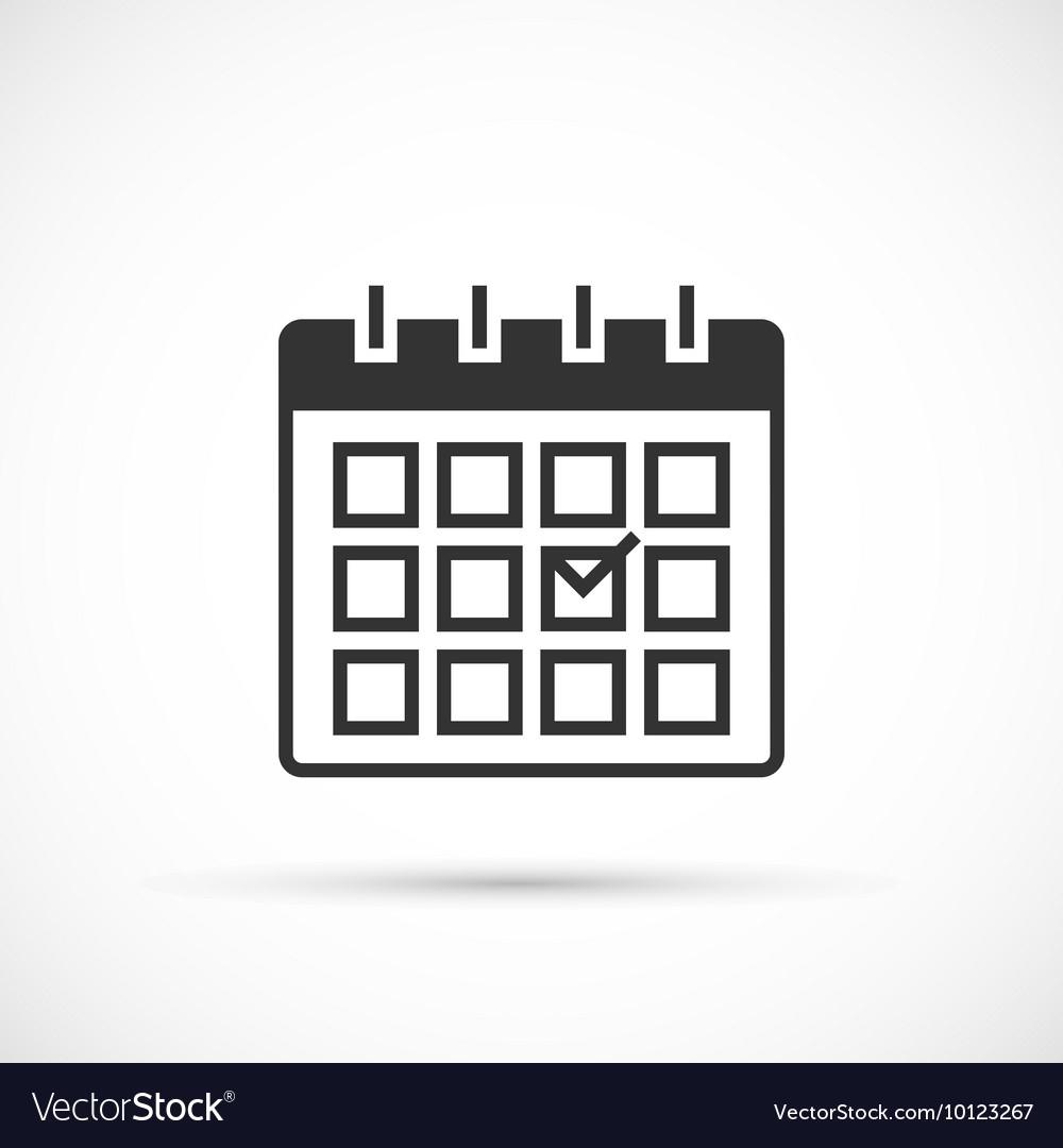 Calendar Icon On White Background throughout Calendar Icon White