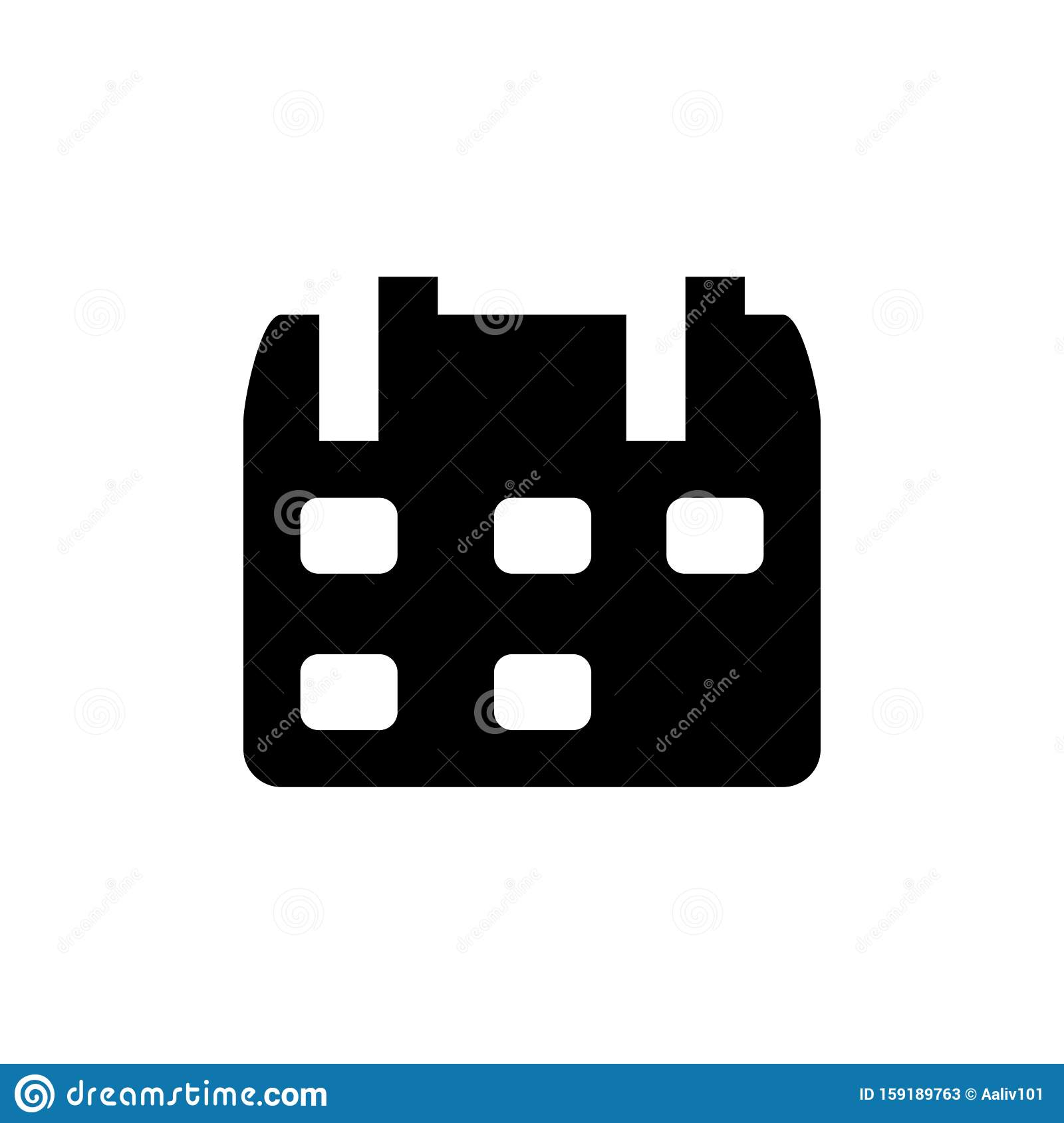 Calendar Icon. Paper Date Symbol Stock Vector  Illustration intended for Material Design Calendar Icon
