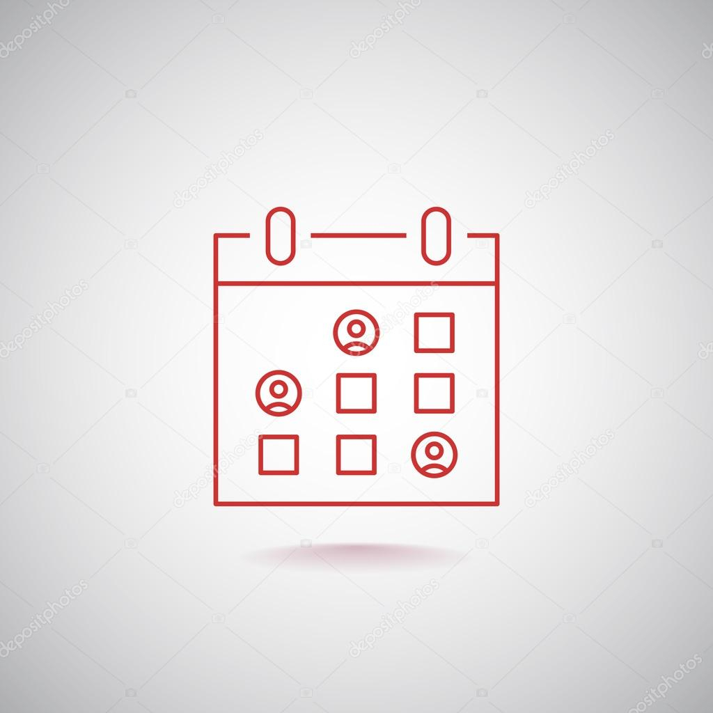 Calendar Icon, Tape Icon Eps10, — Векторное Изображение © Mr with Calendar Icon Jpg