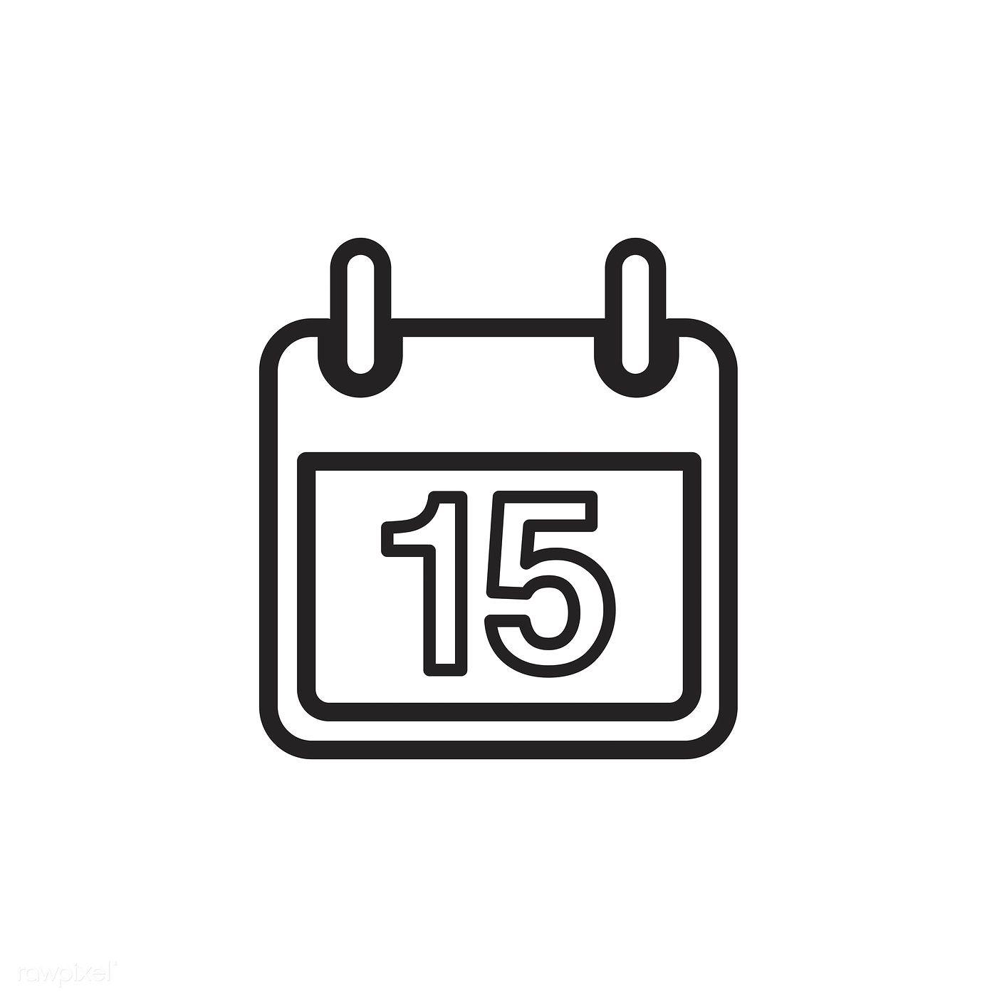 Calendar Icon Vector | Free Image By Rawpixel | Vector in Calendar Icon Noun Project