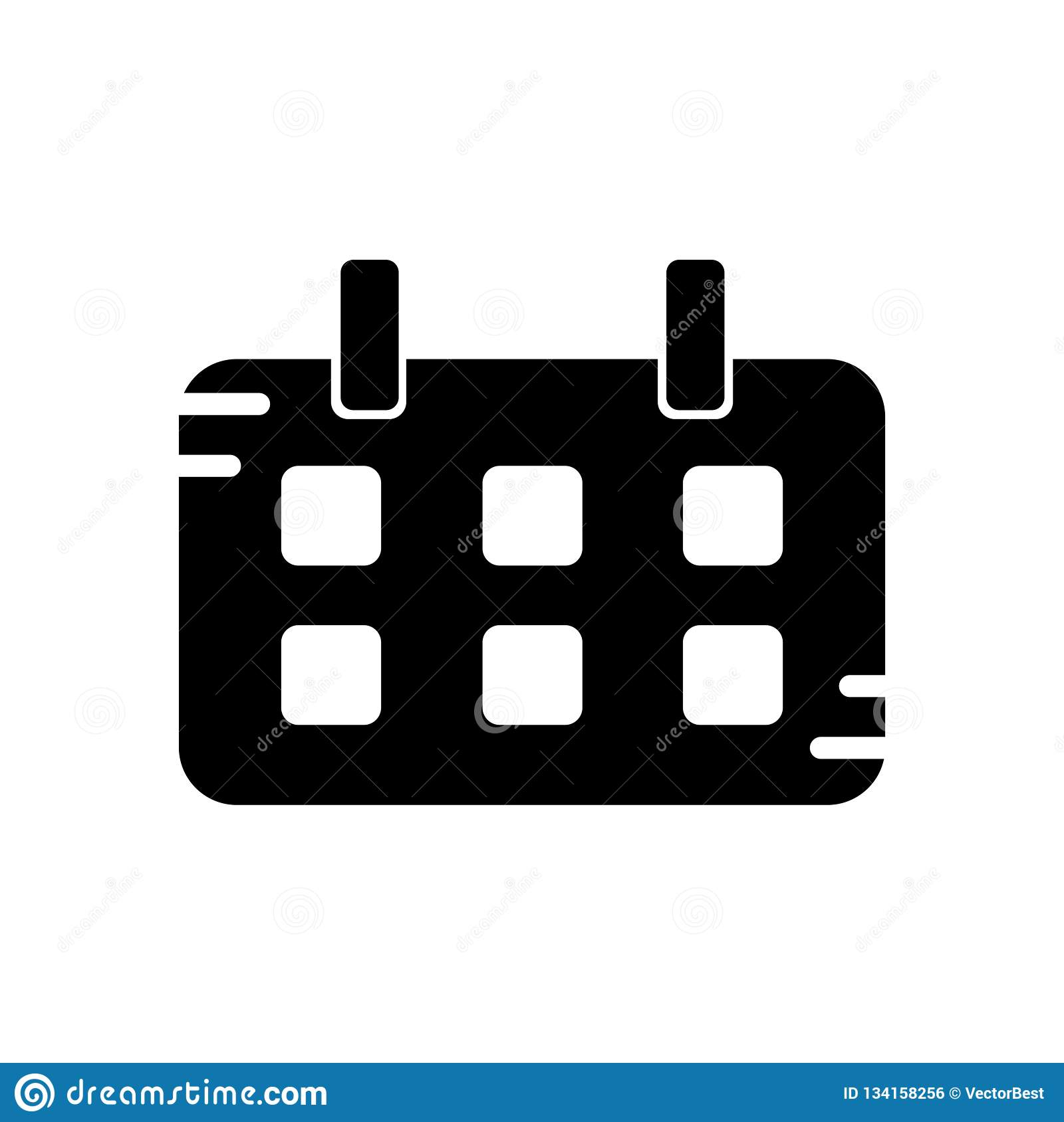 Calendar Icon Vector Sign And Symbol Isolated On White regarding Material Design Calendar Icon