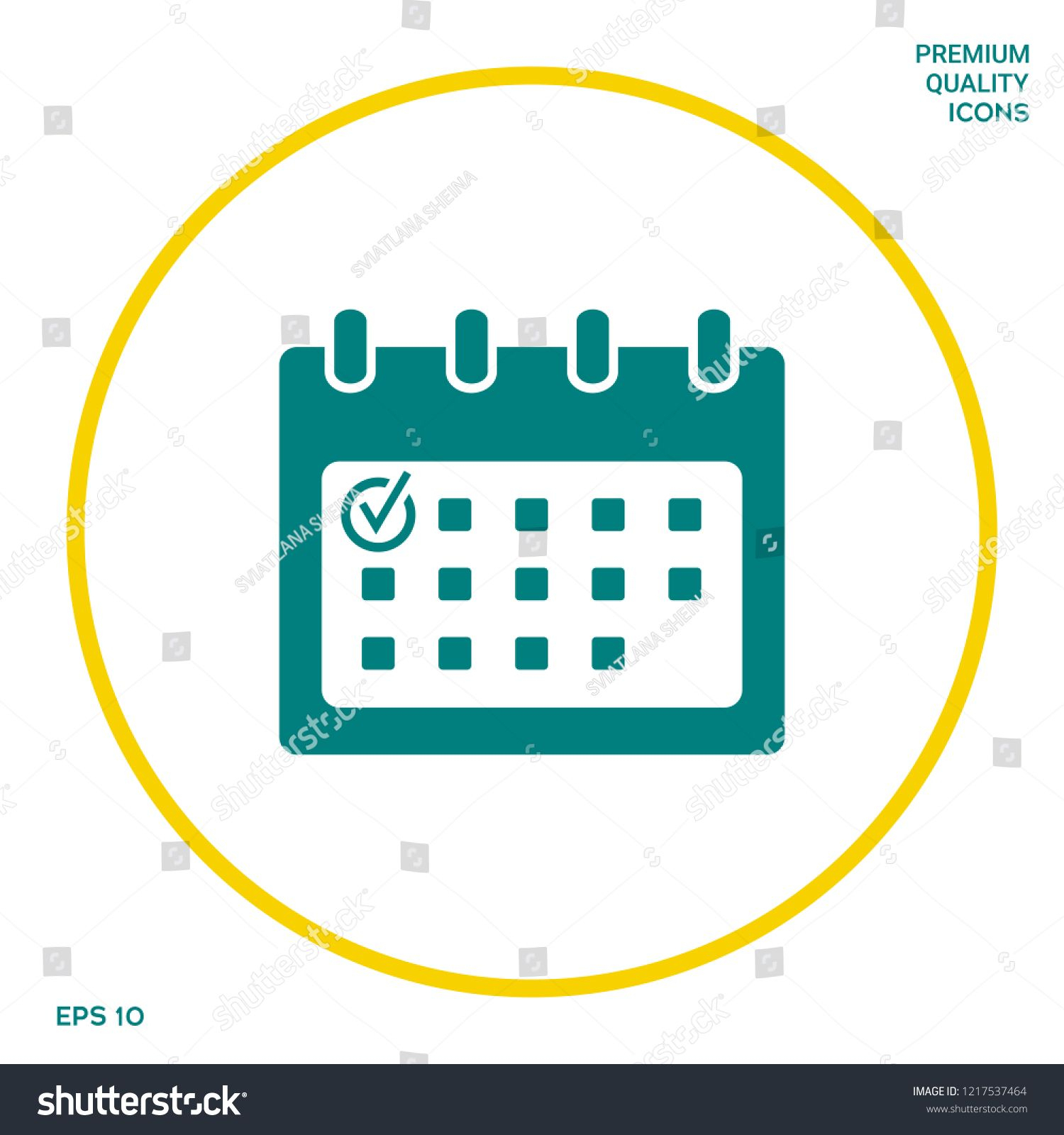 Calendar Icon With Check Mark. Graphic Elements For Your intended for Calendar Icon Powerpoint
