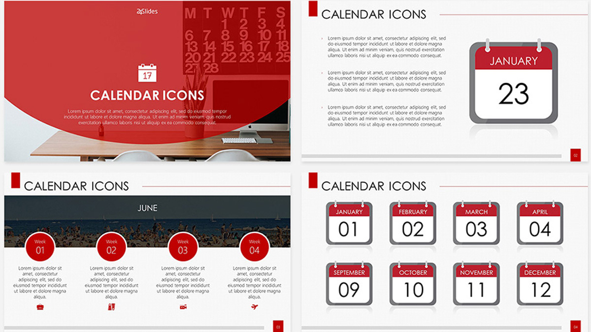 Calendar Icons Free Powerpoint Template in Calendar Icon Powerpoint