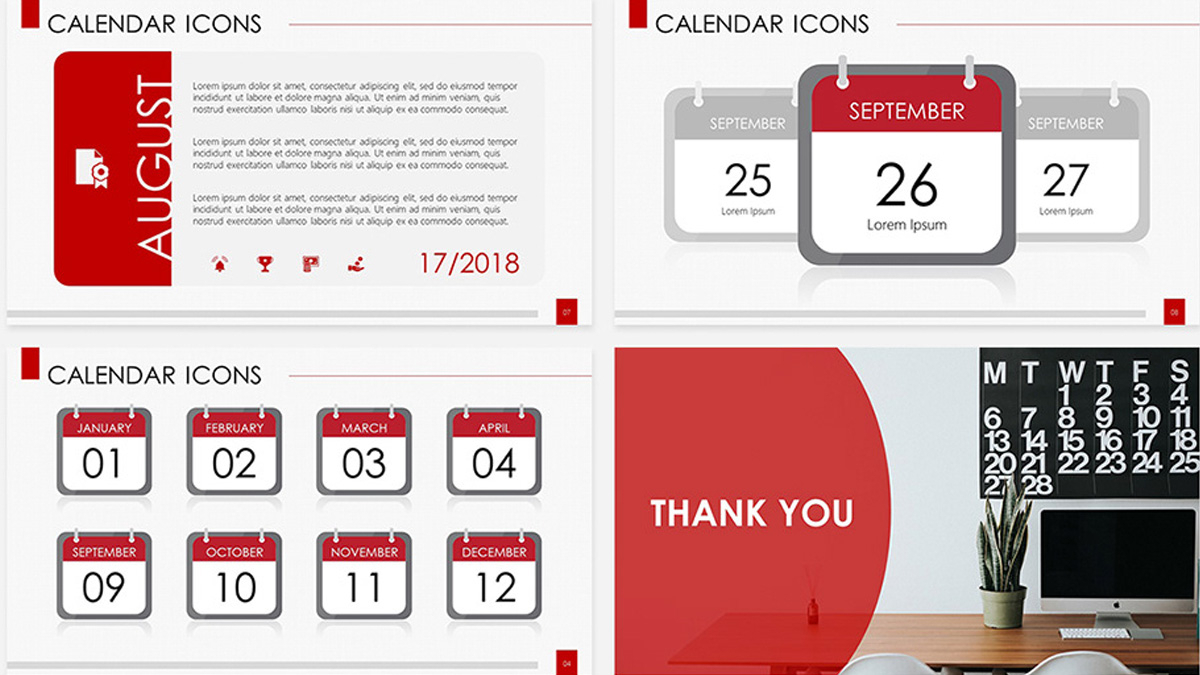 Calendar Icons Free Powerpoint Template within Calendar Icon Powerpoint