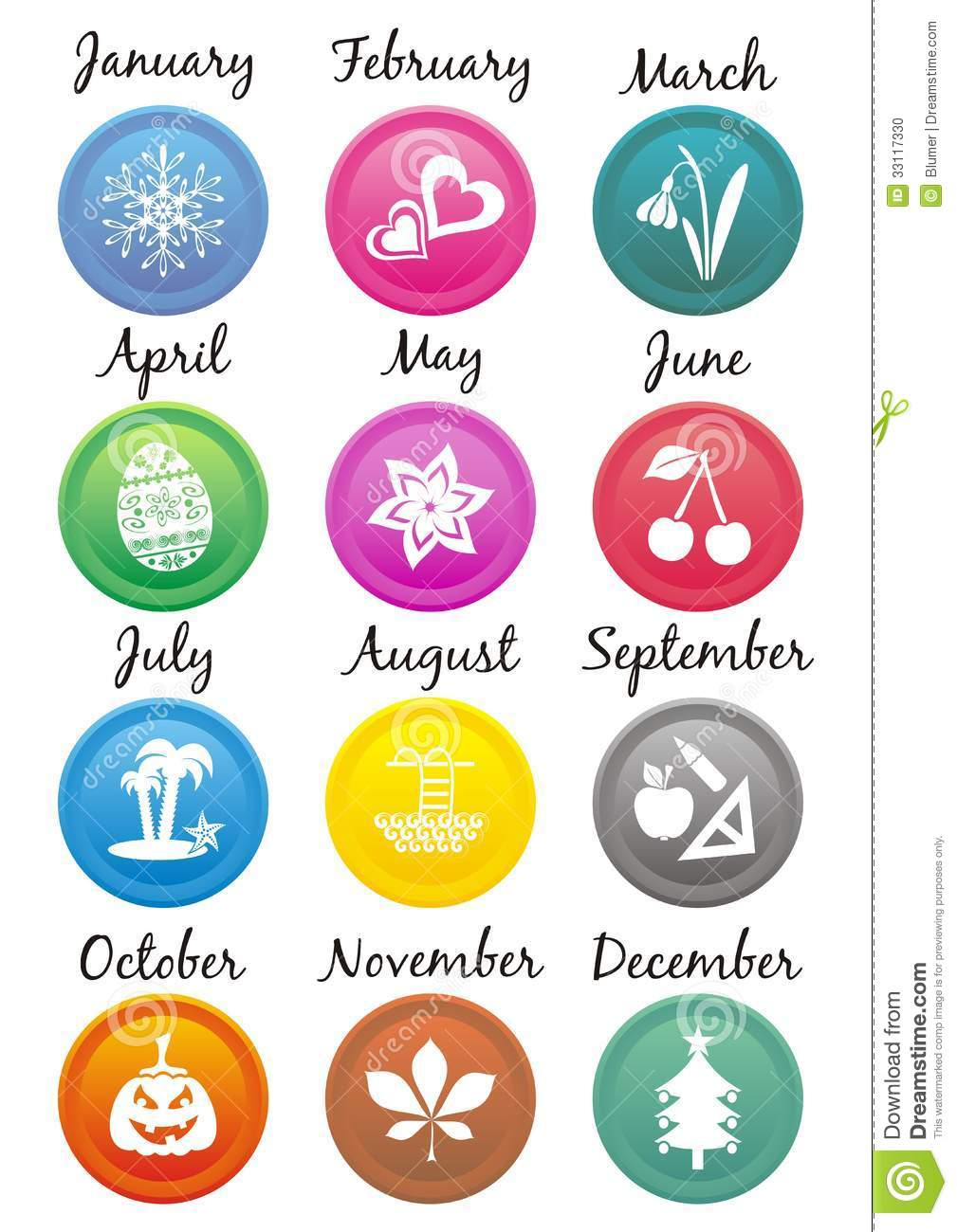 Calendar Icons Stock Vector. Illustration Of Illustration intended for Calendar Date Icon Generator