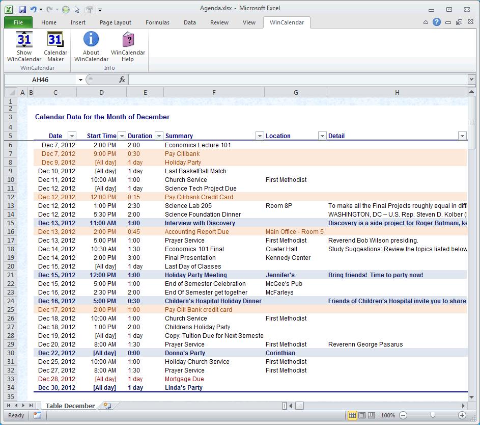 Calendar Maker & Calendar Creator For Word And Excel for Word Calendar Creator
