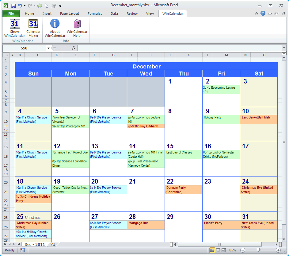 Calendar Maker & Calendar Creator For Word And Excel regarding Calendar Creator Windows 10