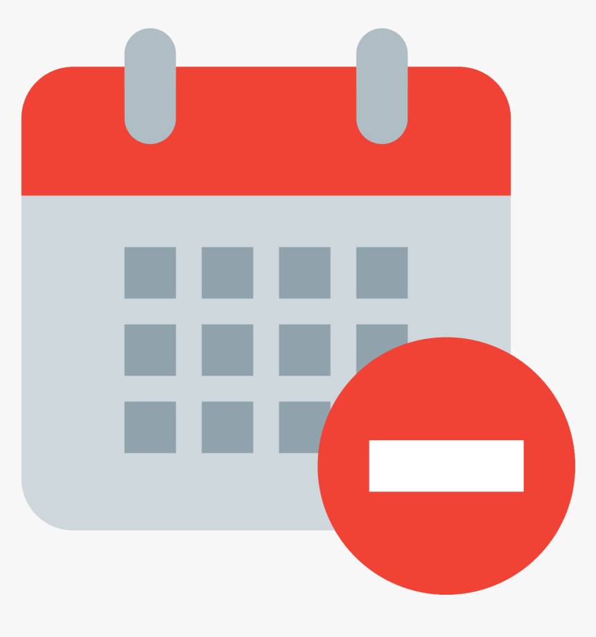 Calendar Minus Icon  Icon Png Color Calendar, Transparent in Red Calendar Icon Png