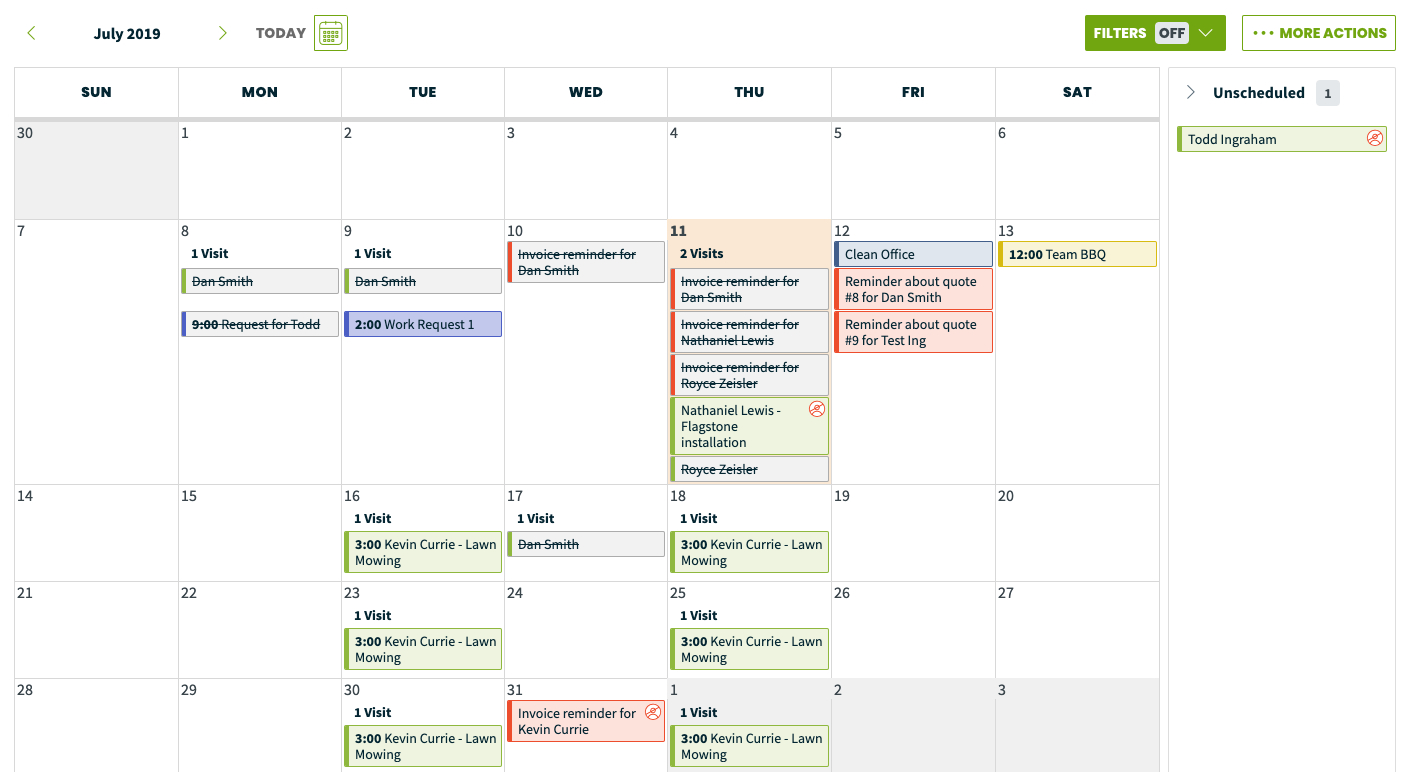 Calendar  Month & Week View – Jobber Help Center in One Week Calendar With Time Slots