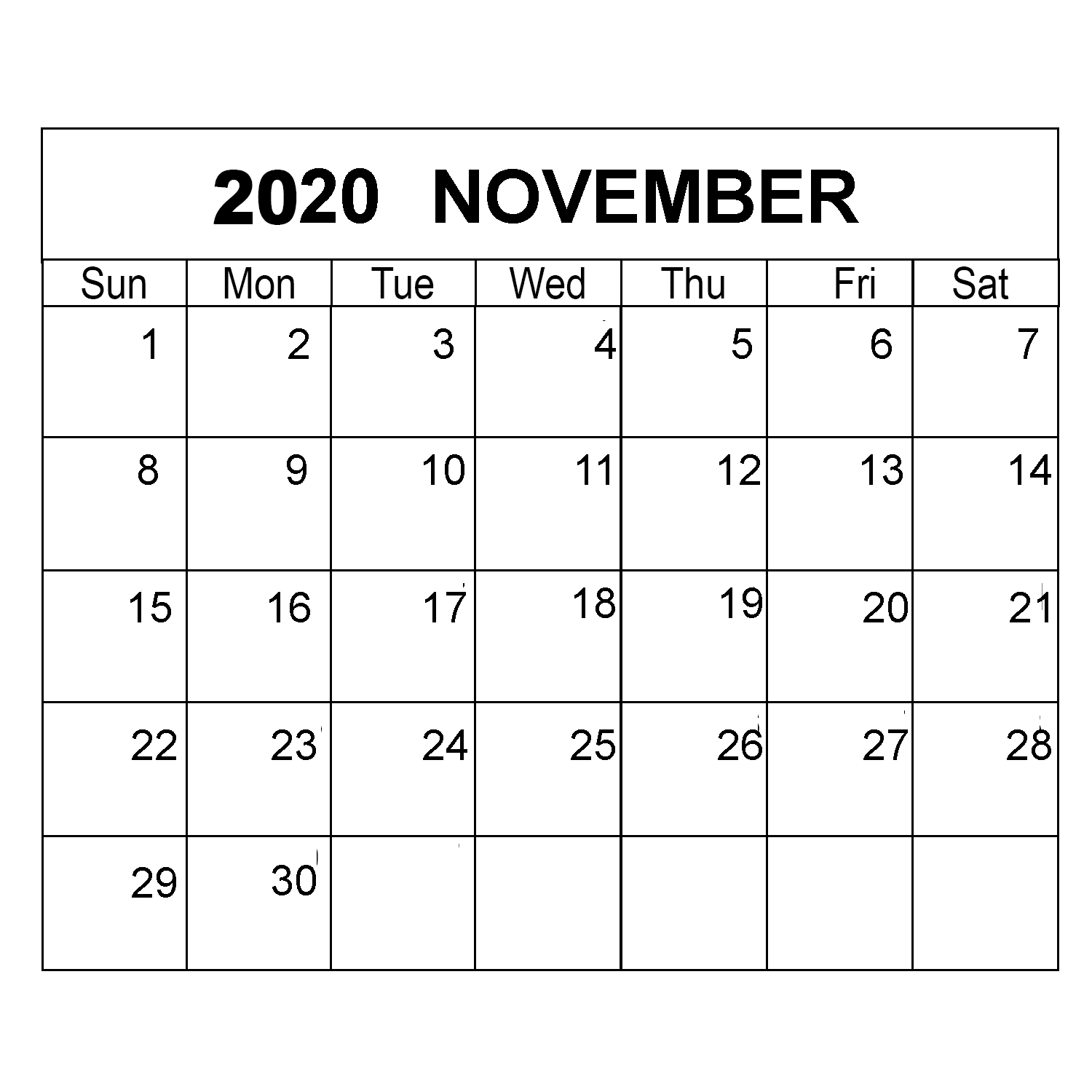 Calendar Monthly November 2020 | Calendar Ideas Design Creative with November 2020 Calendar Excel