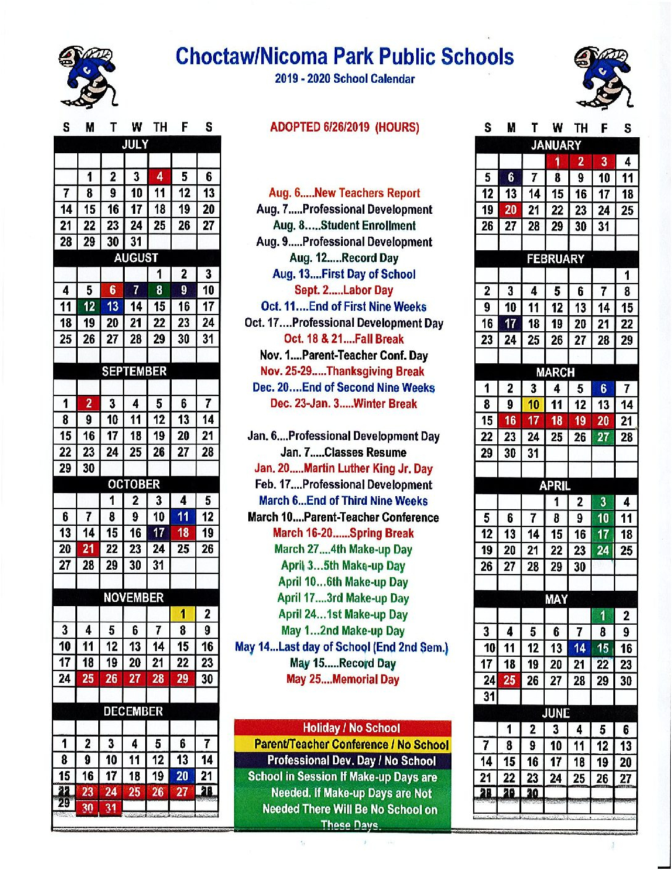 Calendar – Nicoma Park Middle Schools in Nicoma Park Middle School Calendar