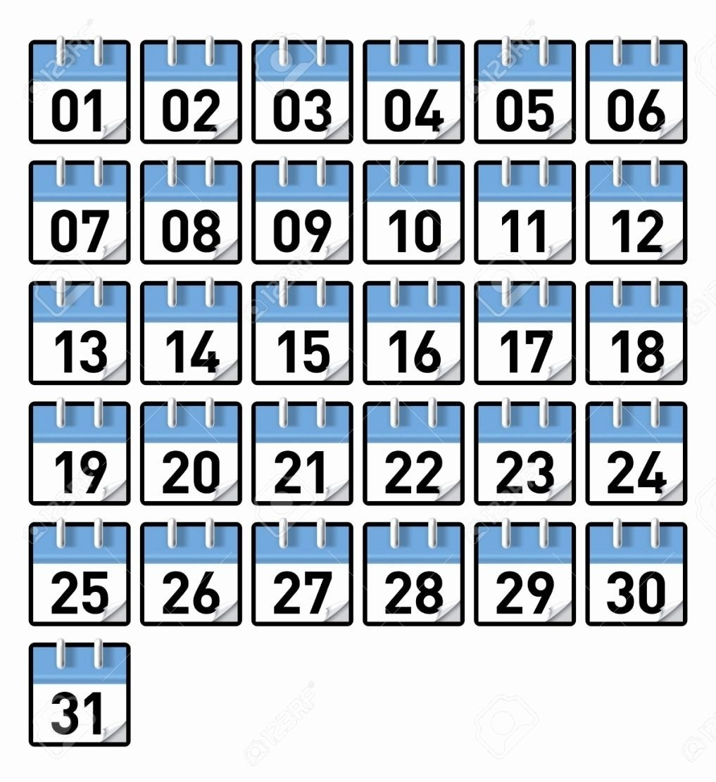 Calendar Numbers 131 To Print | Example Calendar Printable regarding Calendar Numbers 1-31 Printable