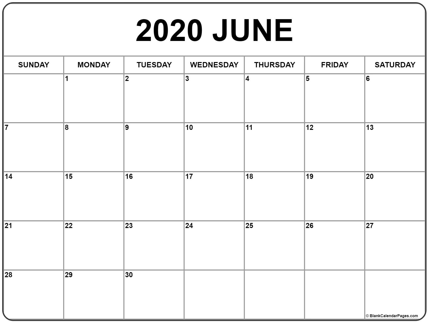 Calendar Of National Days June 2020 | Example Calendar Printable inside National Days June 2020