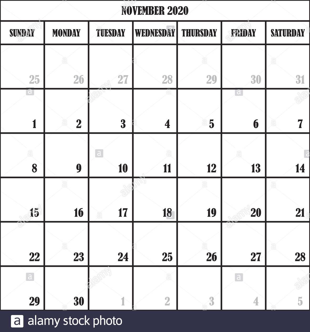 Calendar Planner Month November 2020 On Transparent within November Calendar 2020 Transparent